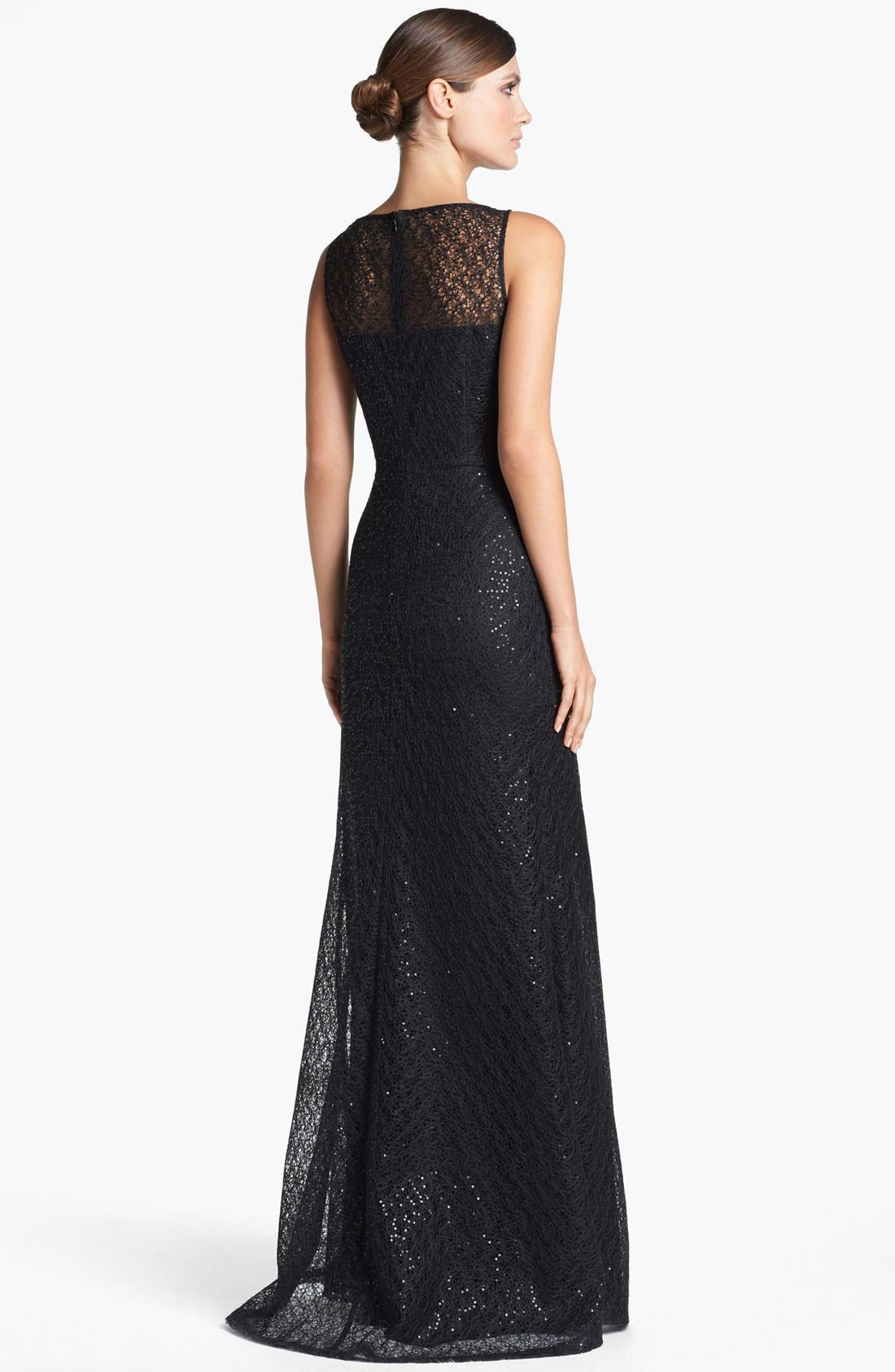 Alternate Image 2  - St. John Collection Gossamer Lace Gown