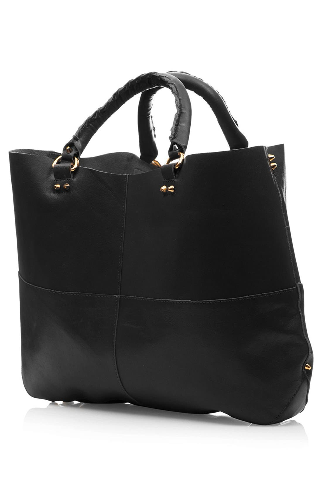 Alternate Image 2  - Topshop 'Clean' Leather Tote