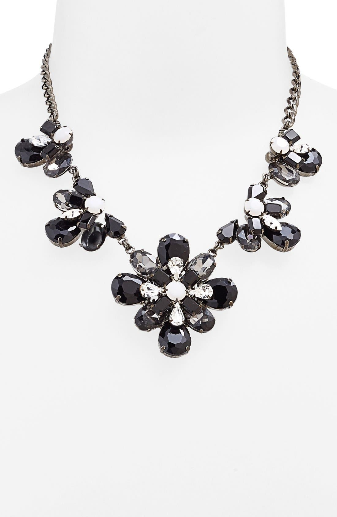 Main Image - Nordstrom 'Lady Lux' Floral Stone Statement Necklace