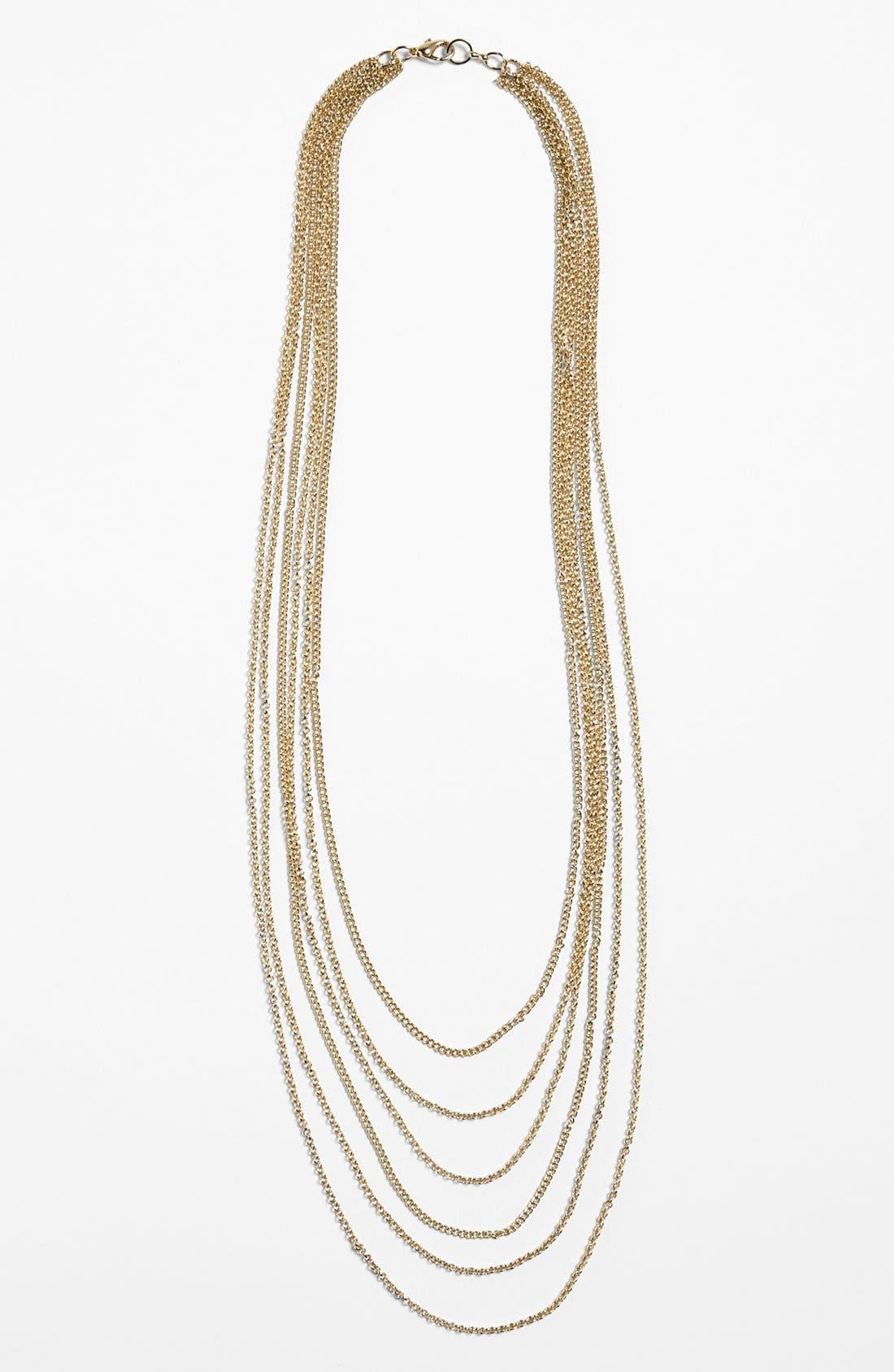 Alternate Image 1 Selected - Rachel Multistrand Chain Necklace (Juniors)