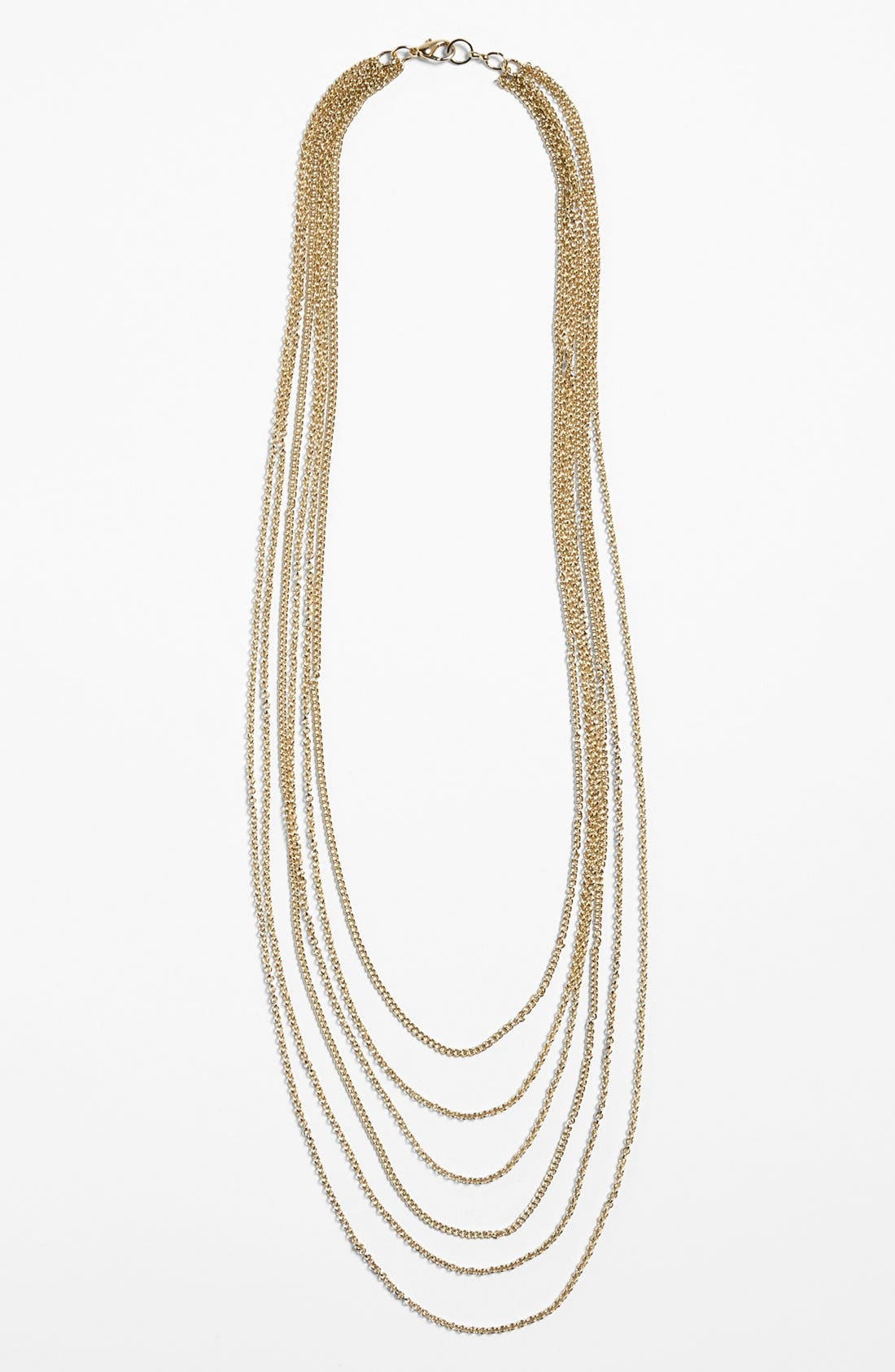 Main Image - Rachel Multistrand Chain Necklace (Juniors)
