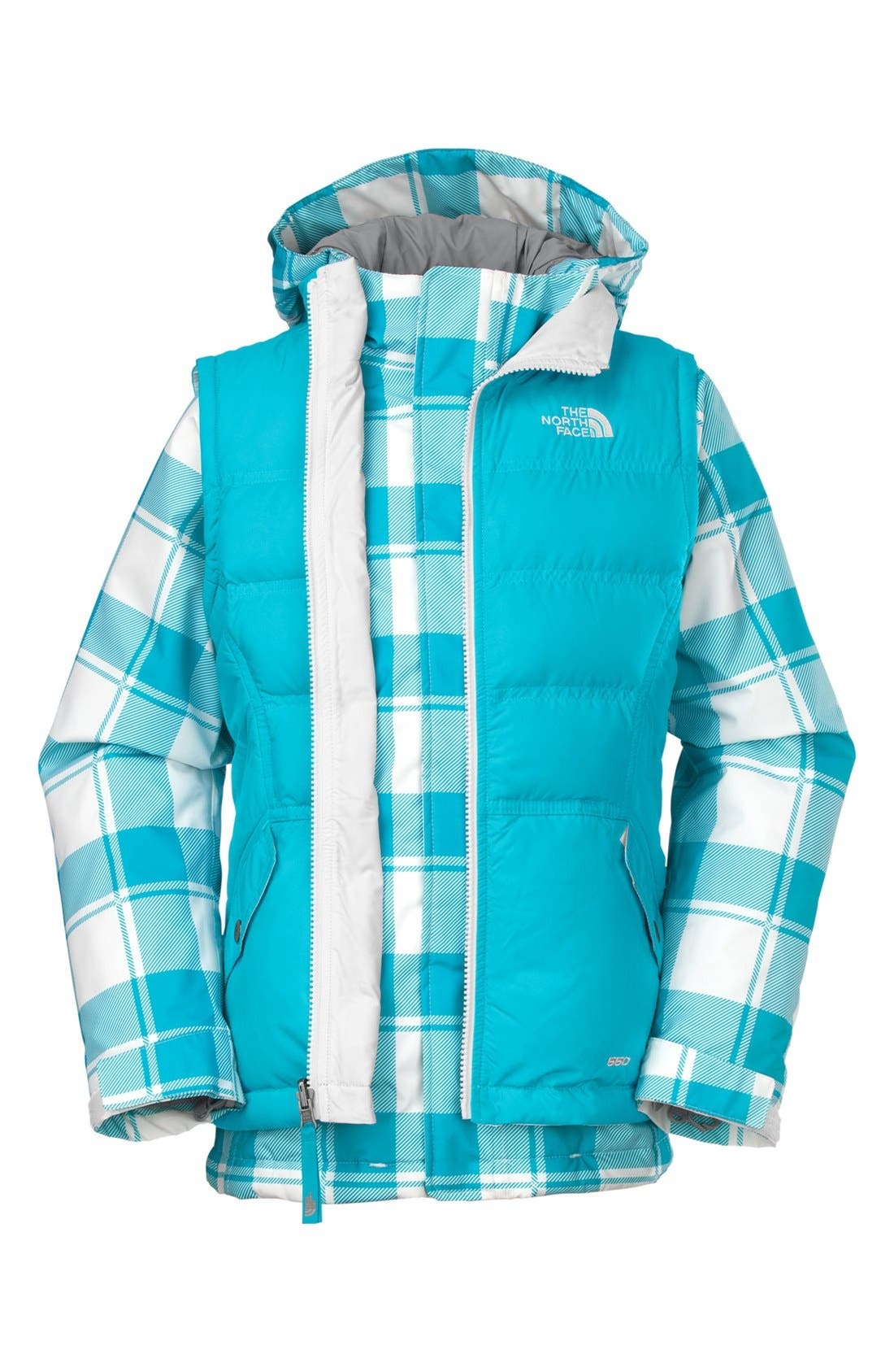 Alternate Image 1 Selected - The North Face 'Vestamatic' TriClimate® 3-in-1 Jacket (Little Girls & Big Girls)