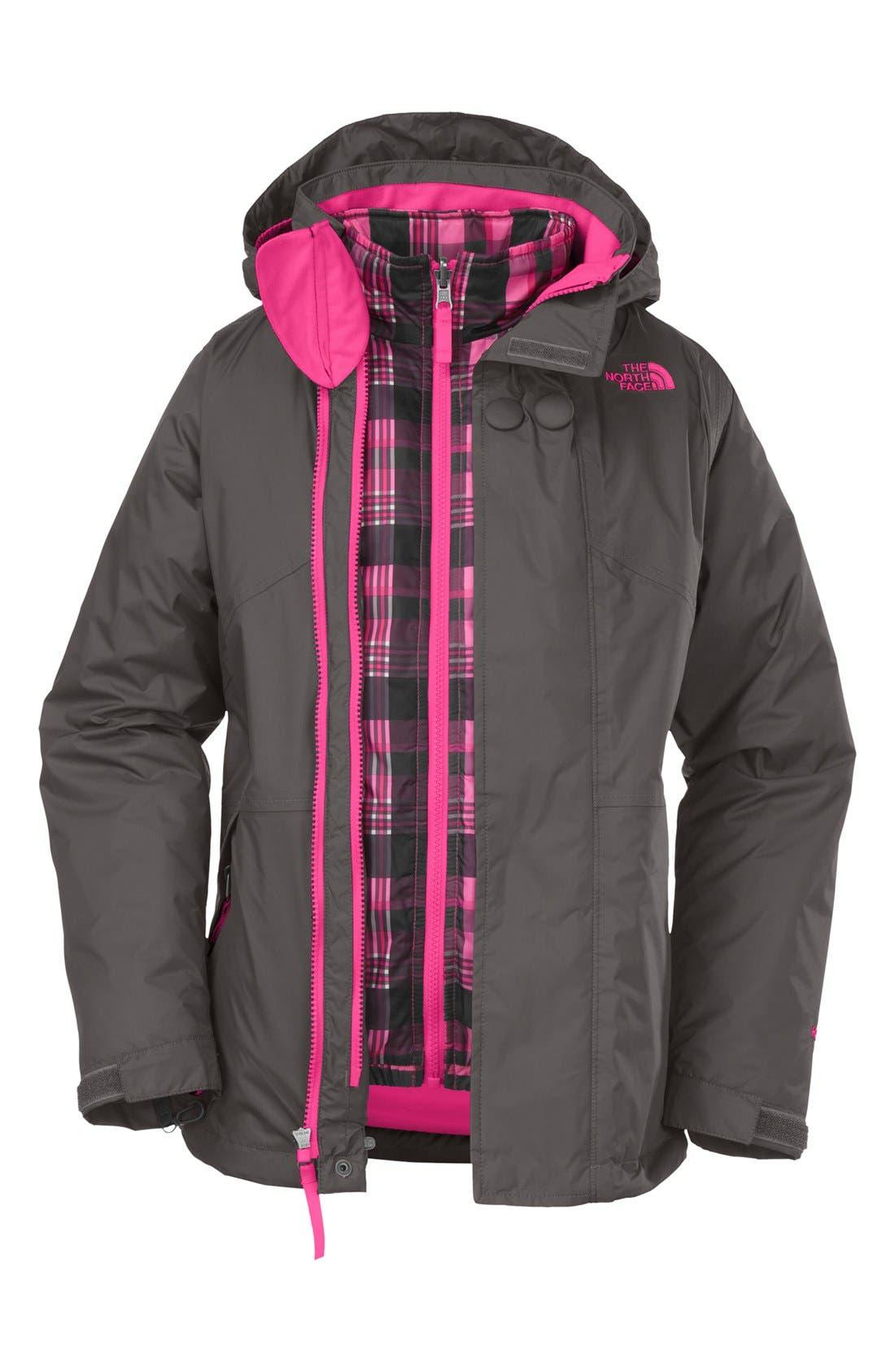 Alternate Image 1 Selected - The North Face 'Maraboo Triclimate®' Waterproof Heatseeker™ Aero Snow Sport Jacket (Little Girls & Big Girls)