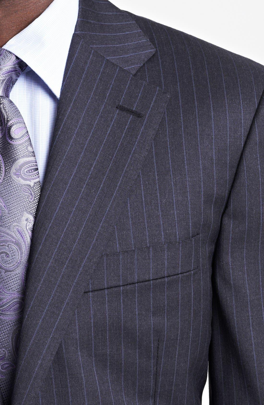 Alternate Image 2  - Canali Classic Fit Stripe Suit