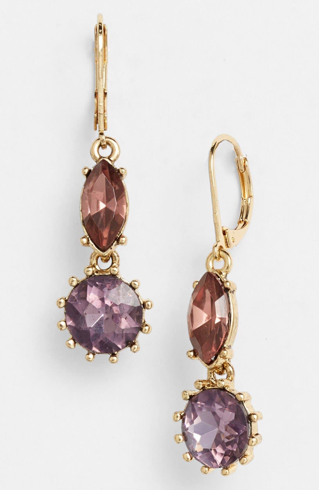 Alternate Image 1 Selected - Anne Klein Stone Drop Earrings
