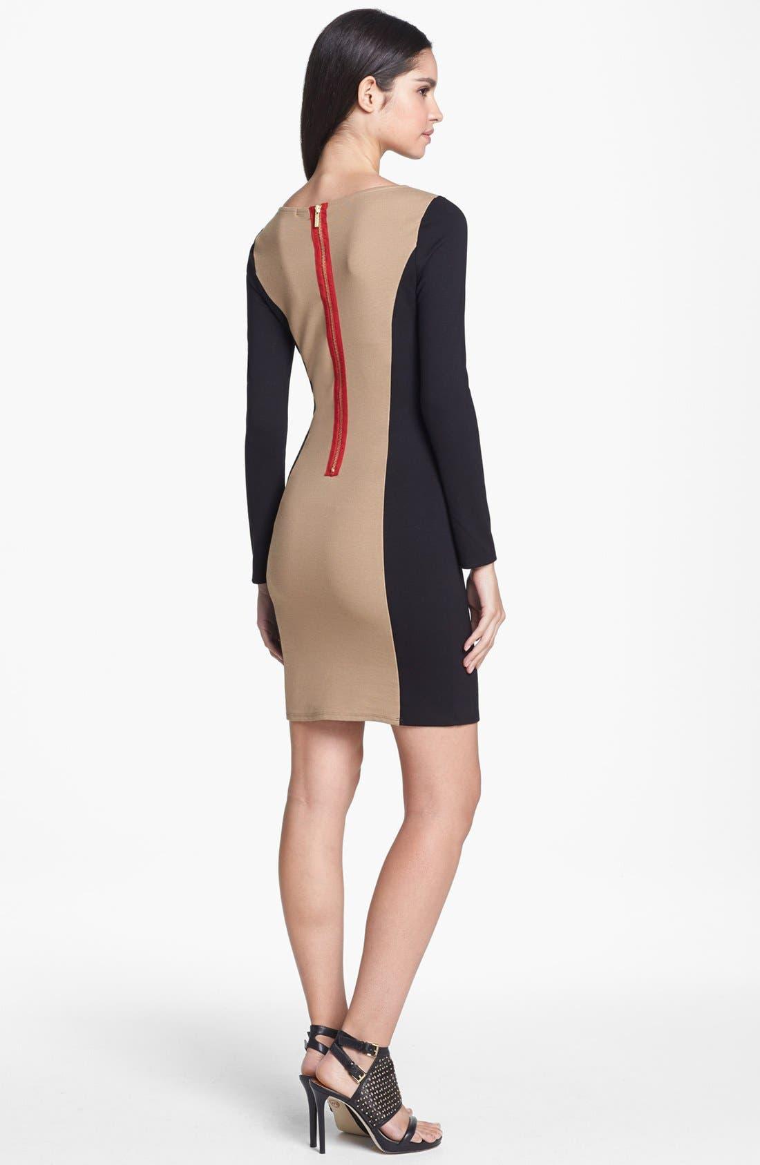 Alternate Image 2  - Ella Moss Colorblock Ponte Knit Sheath Dress