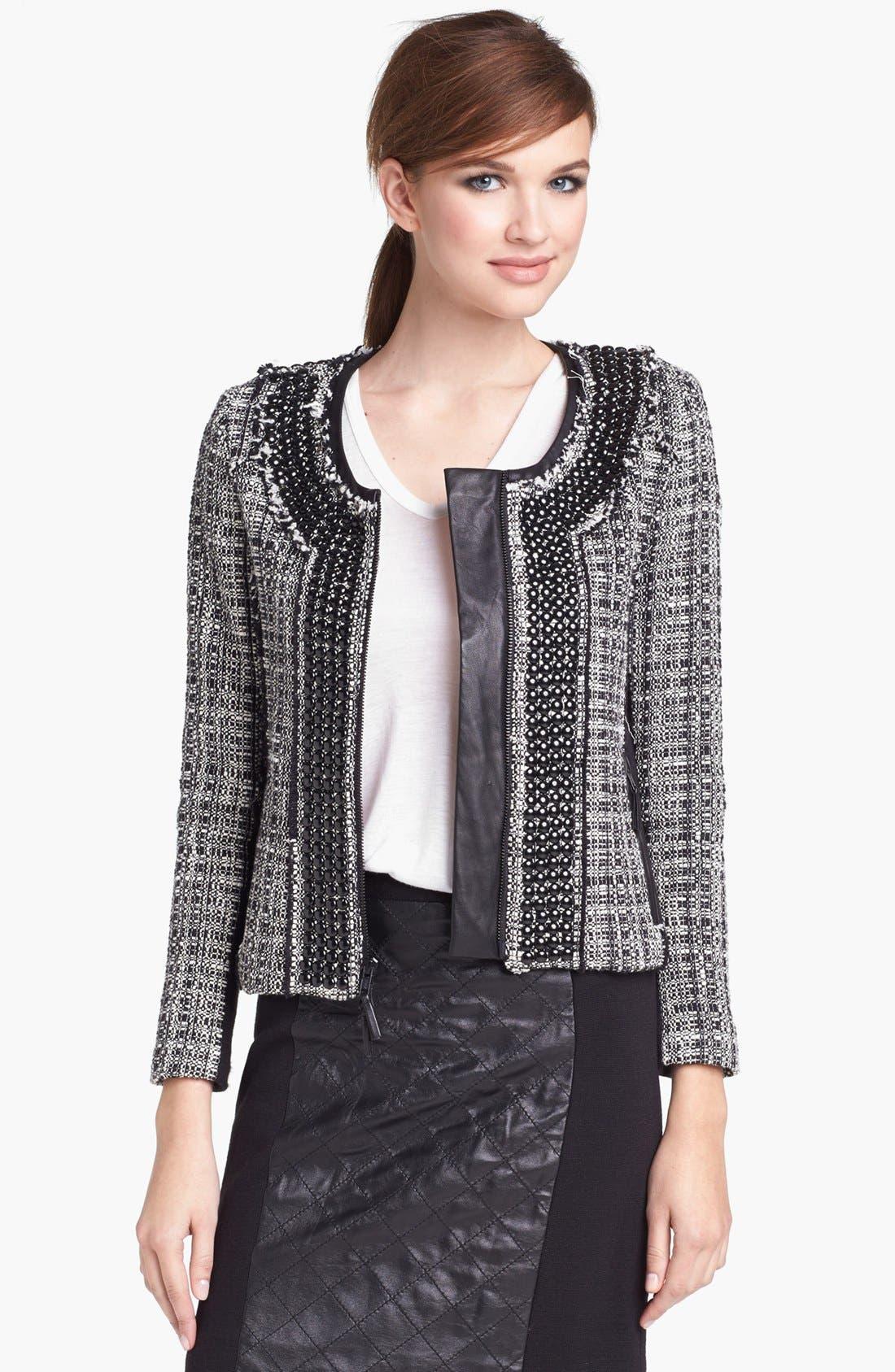 Alternate Image 1 Selected - Milly Studded Crop Jacket