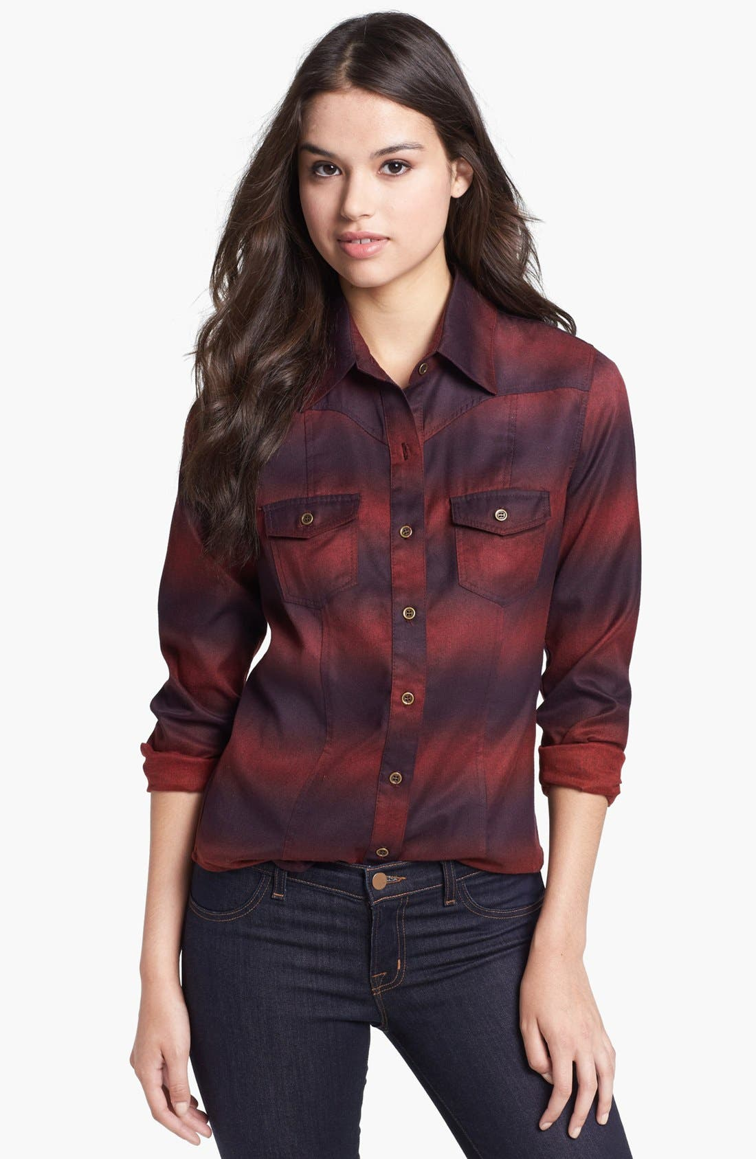 Alternate Image 1 Selected - KUT from the Kloth 'Eleanor' Ombré Western Shirt