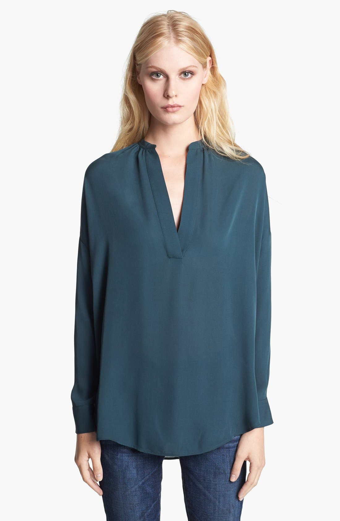 Main Image - Vince 'Popover' Silk Blouse