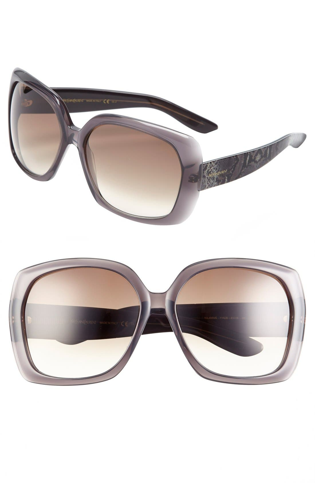 Main Image - Saint Laurent Oversized Sunglasses
