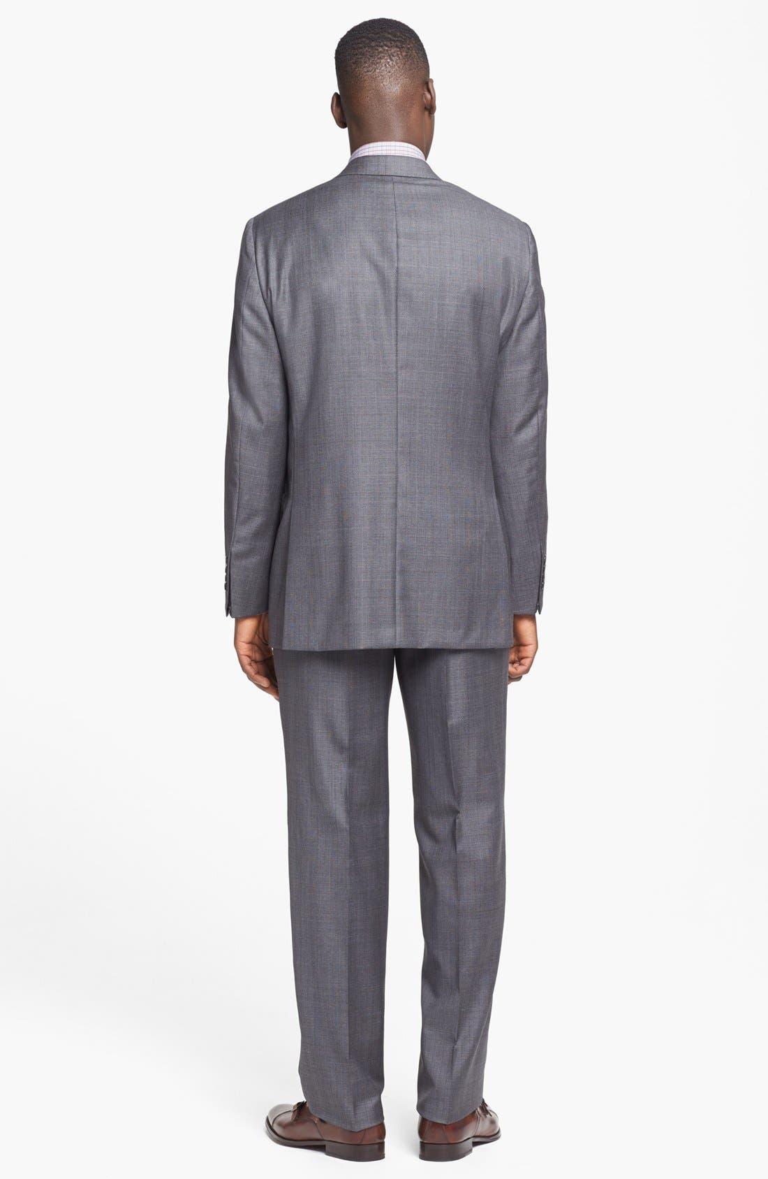 Alternate Image 3  - Hickey Freeman 'B Series' Classic Fit Plaid Suit