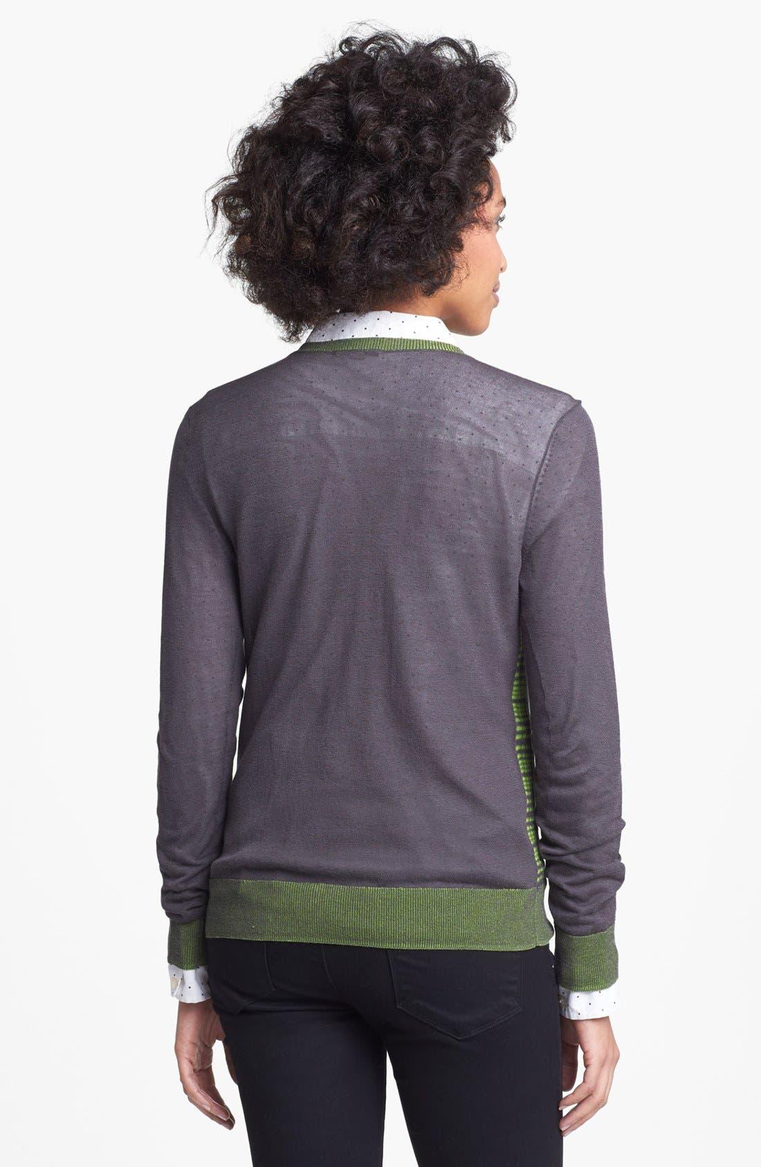 Alternate Image 2  - Halogen® Plaid Colorblock Sweater (Regular & Petite)