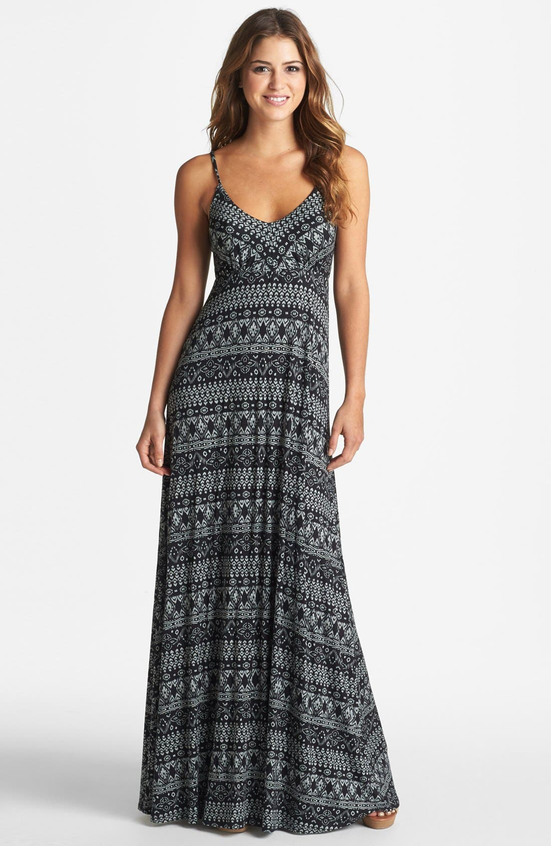 Alternate Image 1 Selected - Olivia Moon Print Maxi Dress