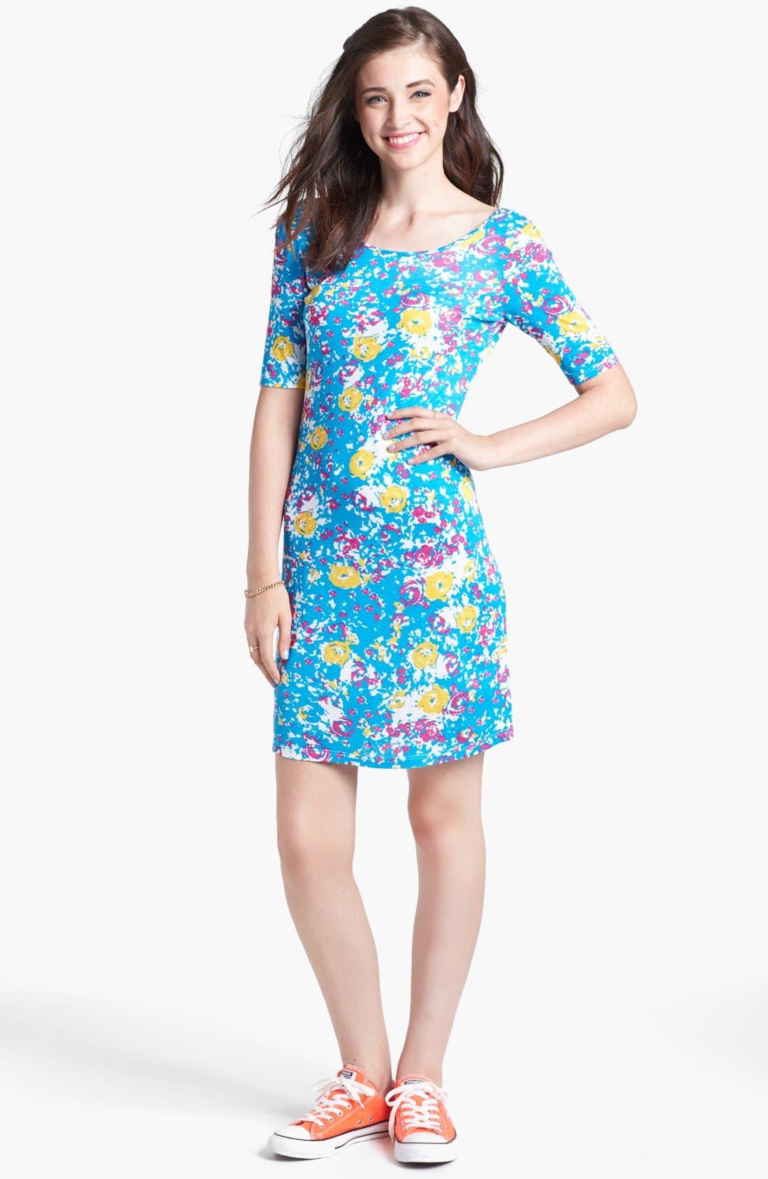 Main Image - Minty Print Body-Con Dress (Juniors)