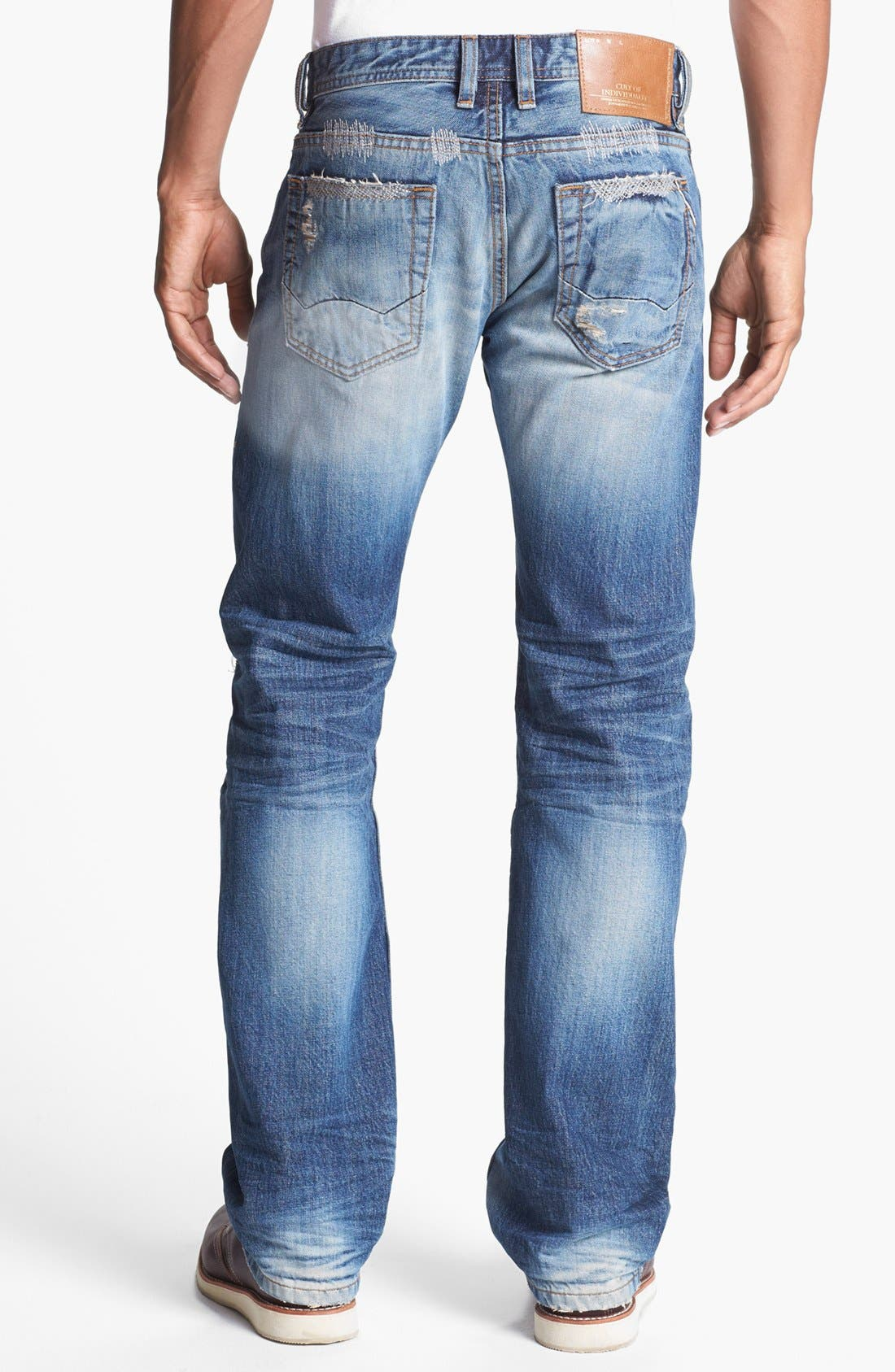 Alternate Image 1 Selected - Cult of Individuality 'Hagen' Relaxed Fit Selvedge Jeans (Vertigo)