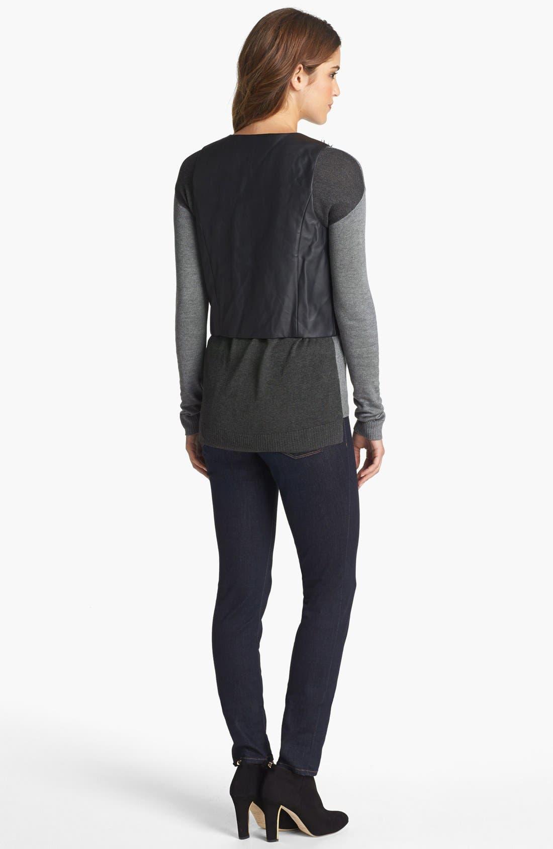 Alternate Image 5  - kensie Faux Fur & Faux Leather Vest
