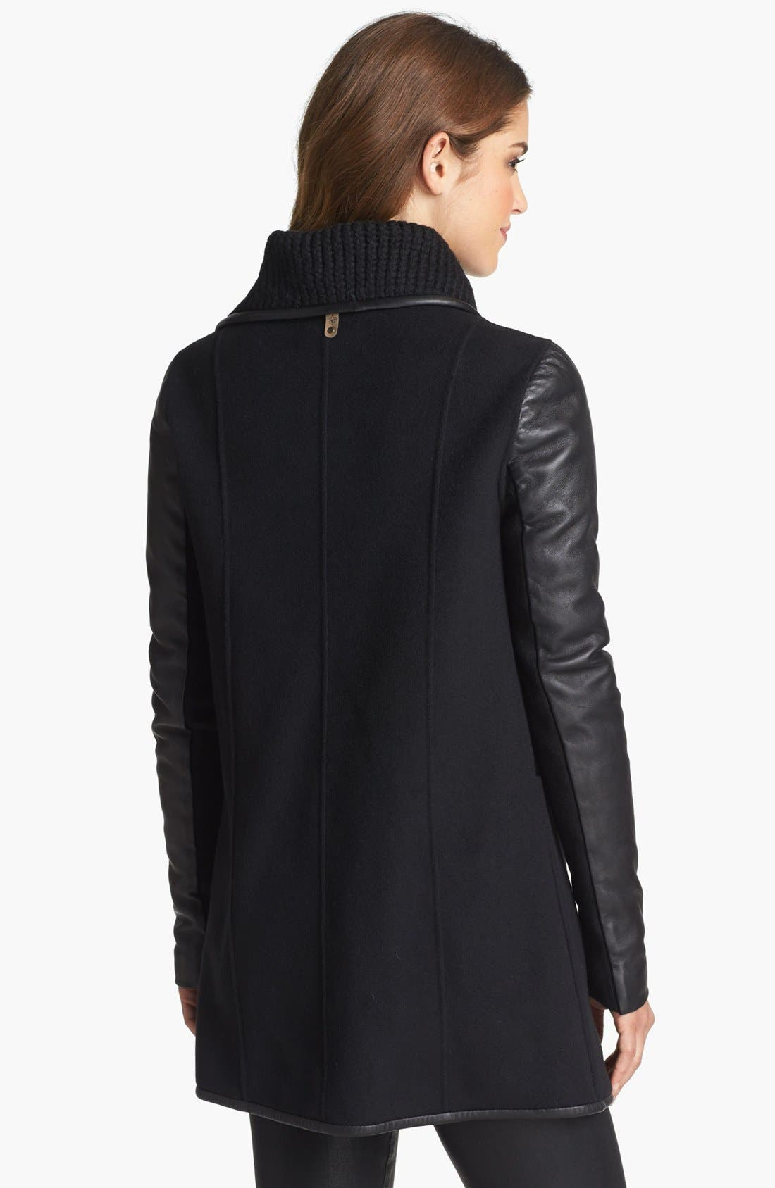 Alternate Image 2  - Mackage 'Cornelia' Leather Sleeve Coat