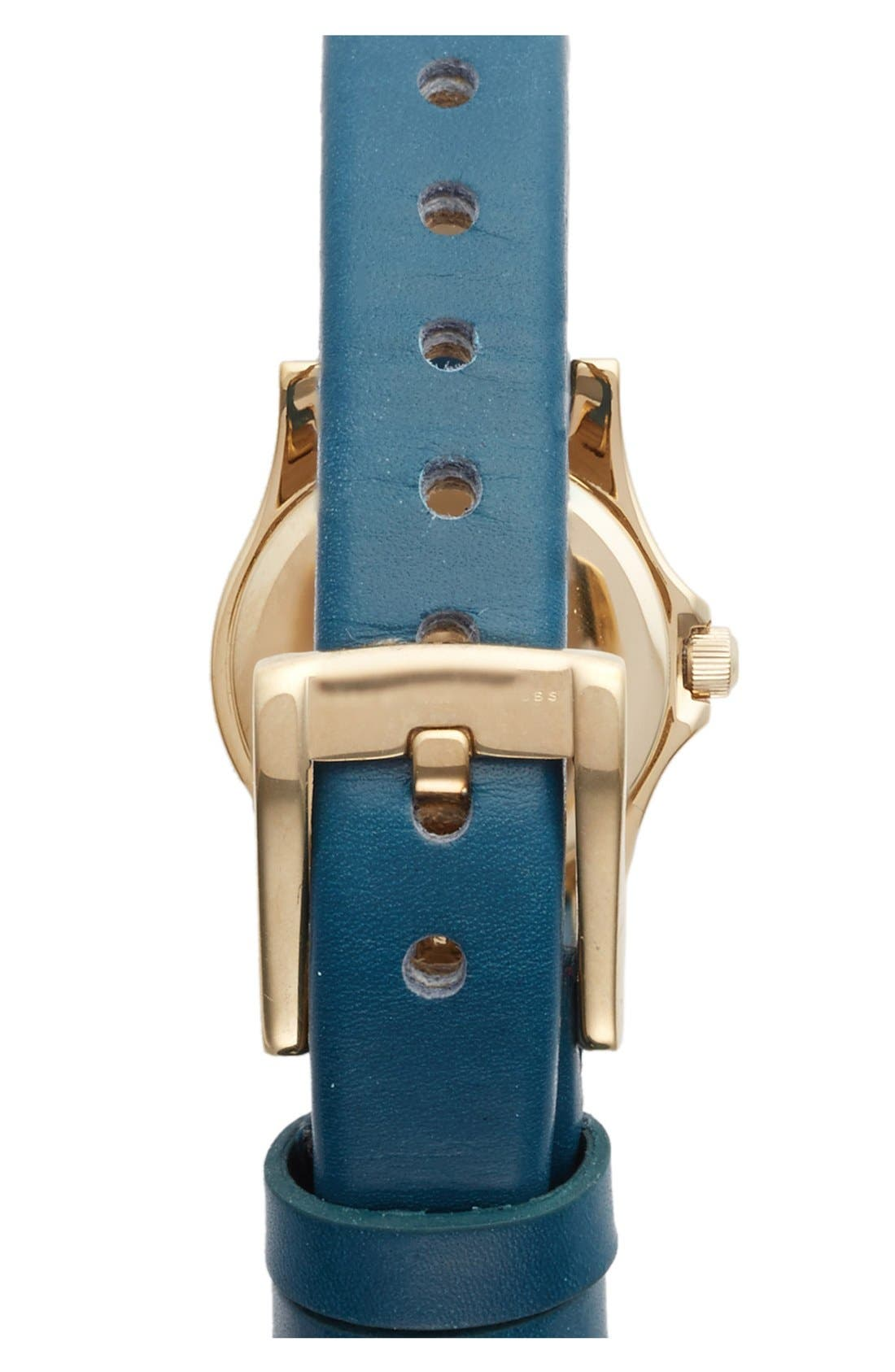 Alternate Image 2  - MARC JACOBS 'Henry Dinky' Leather Strap Watch