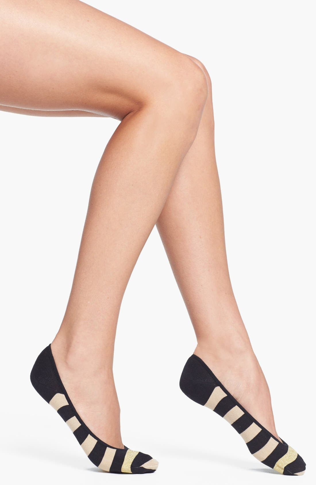Alternate Image 1 Selected - kate spade new york 'sweet stripe' sock liners