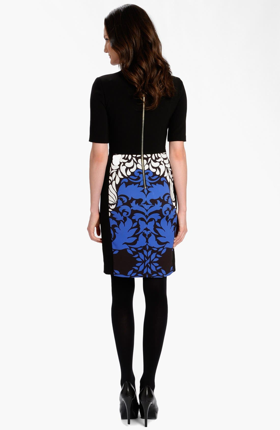 Alternate Image 2  - LABEL by five twelve Print Ponte Knit Sheath Dress