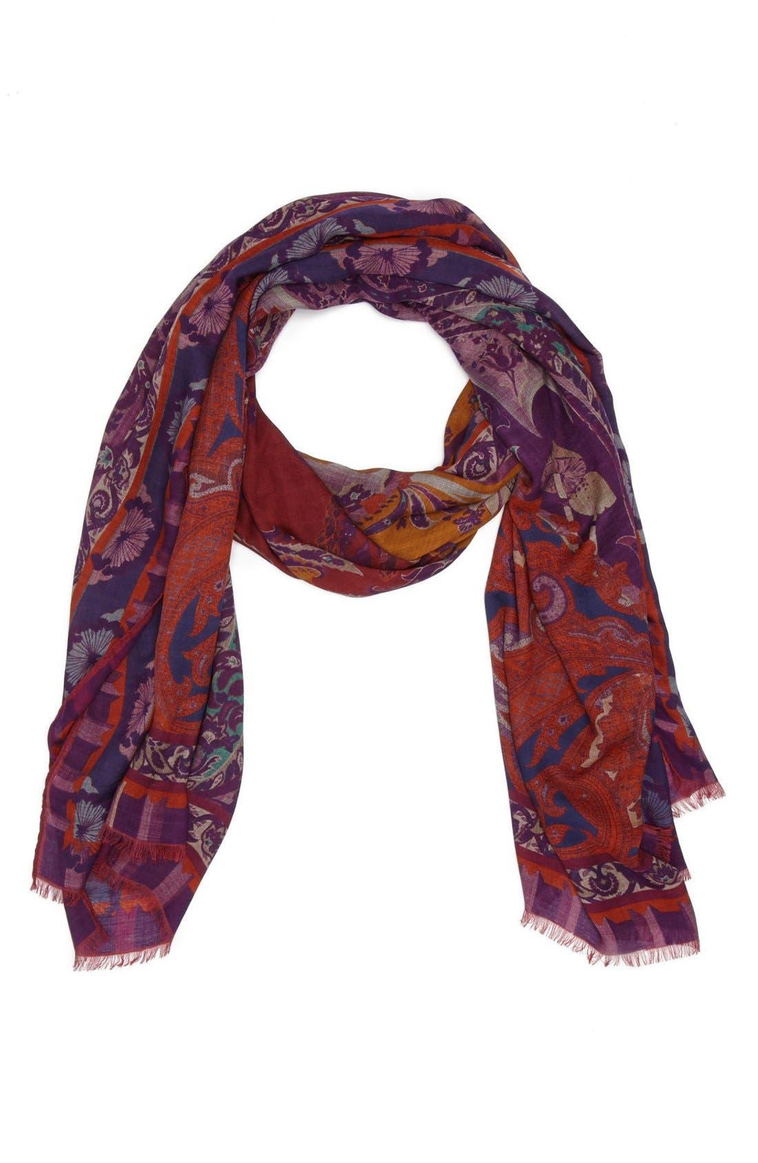 Main Image - Etro Paisley Modal & Wool Scarf