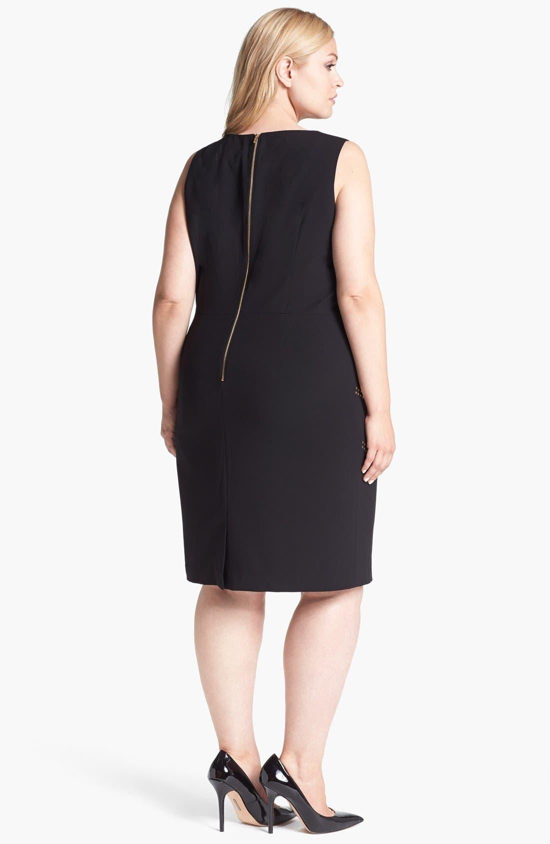 Alternate Image 2  - Calvin Klein Studded Sheath Dress (Plus Size)