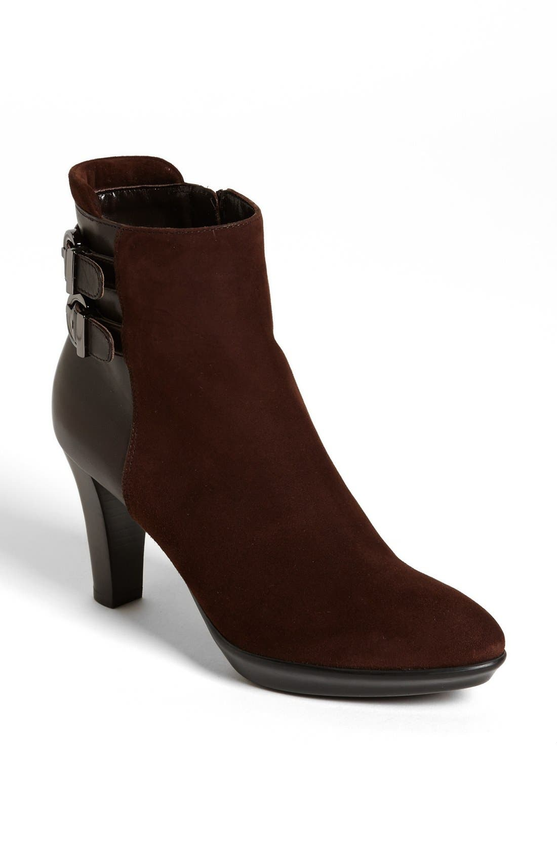 Main Image - Aquatalia by Marvin K 'Roma' Weatherproof Suede & Leather Bootie (Women)
