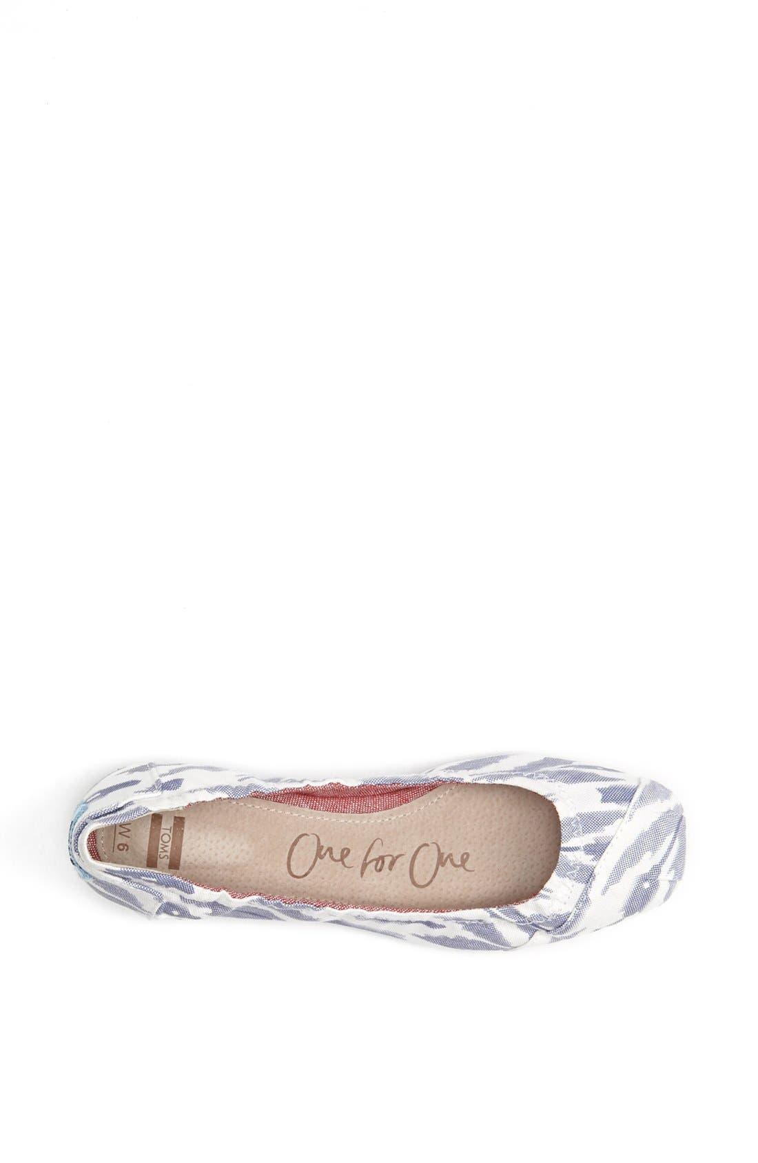 Alternate Image 3  - TOMS Ikat Ballet Flat (Women)