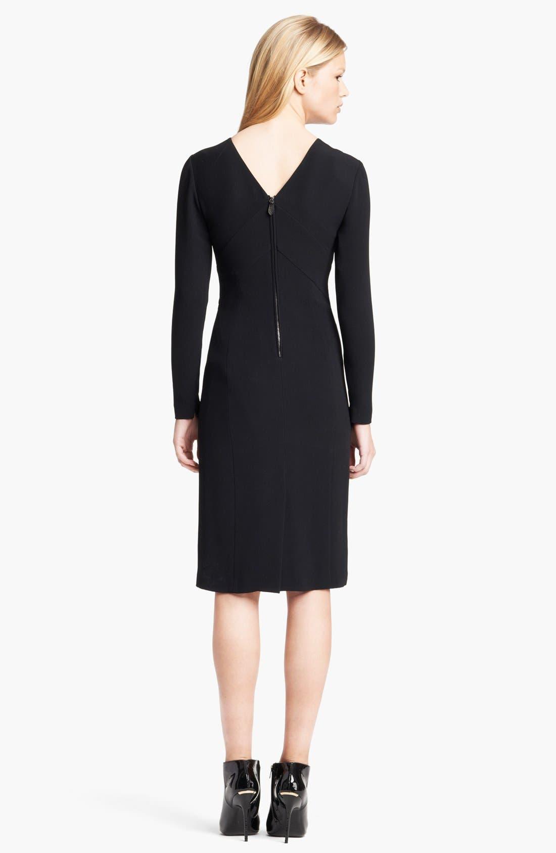 Alternate Image 2  - Burberry Prorsum Chevron Detail Tailored Dress