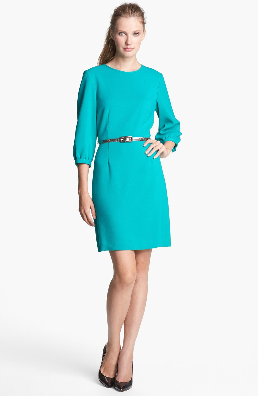 Main Image - Eliza J Belted Shift Dress