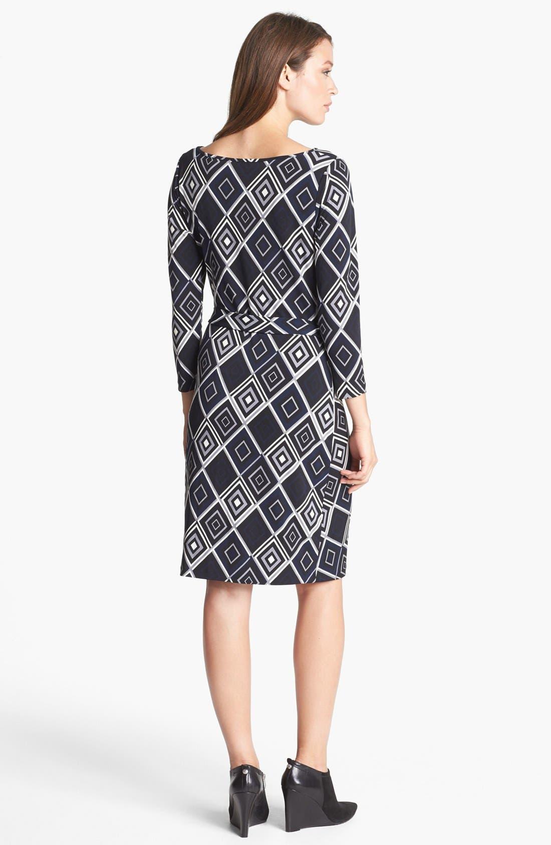Alternate Image 2  - Anne Klein Print Faux Wrap Dress