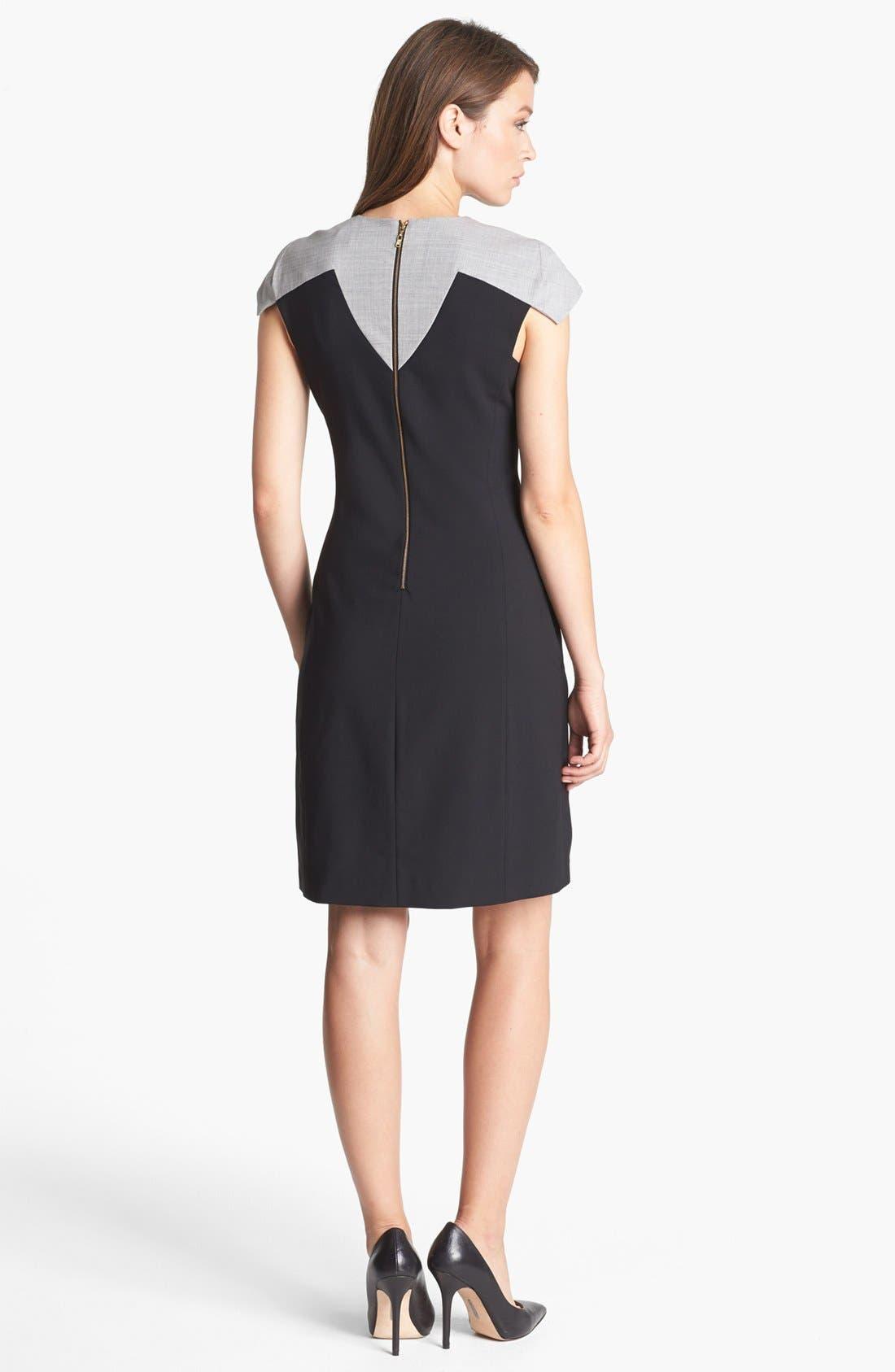 Alternate Image 2  - Rachel Roy Tropical Stretch Wool Shift Dress