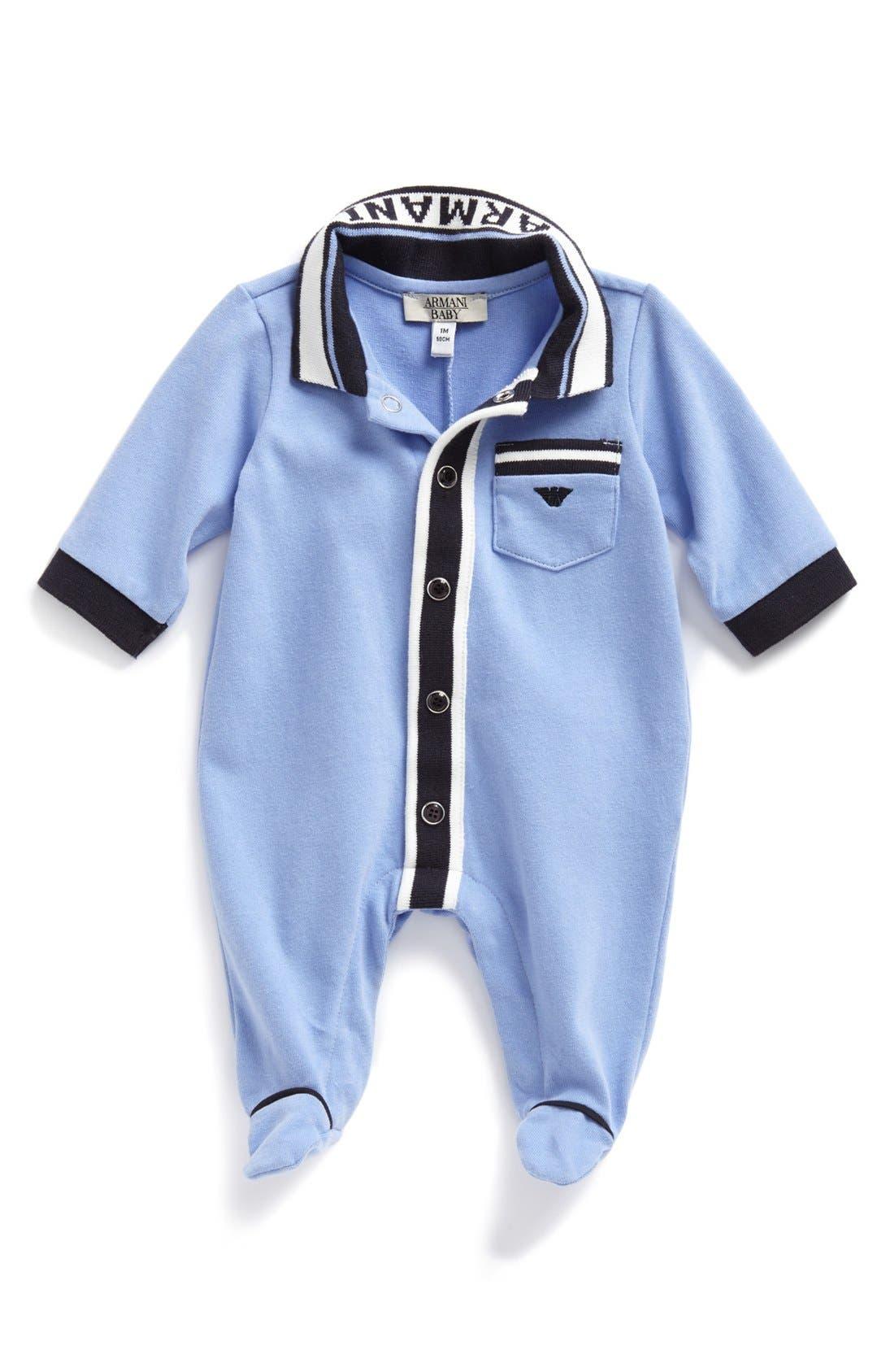 Alternate Image 1 Selected - Armani Junior Footie (Baby Boys)