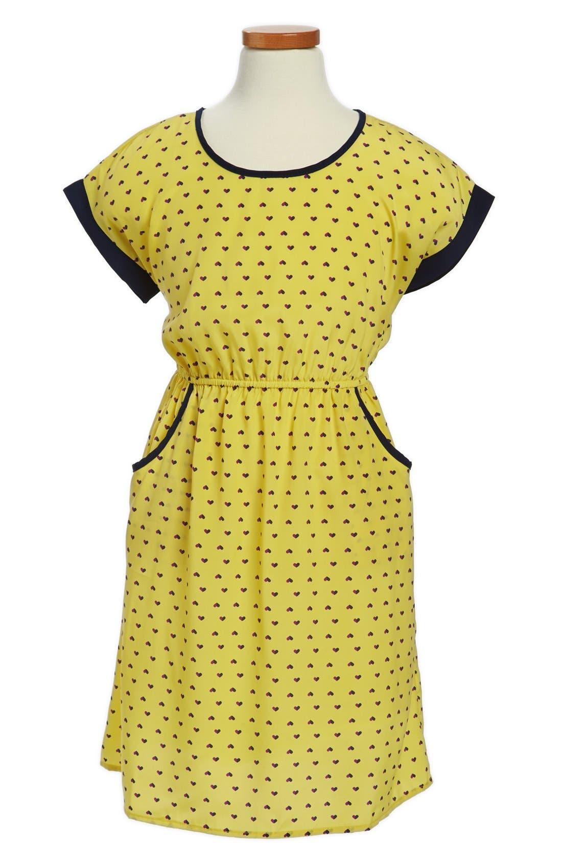 Main Image - Soprano Heart Print Dress (Little Girls & Big Girls)