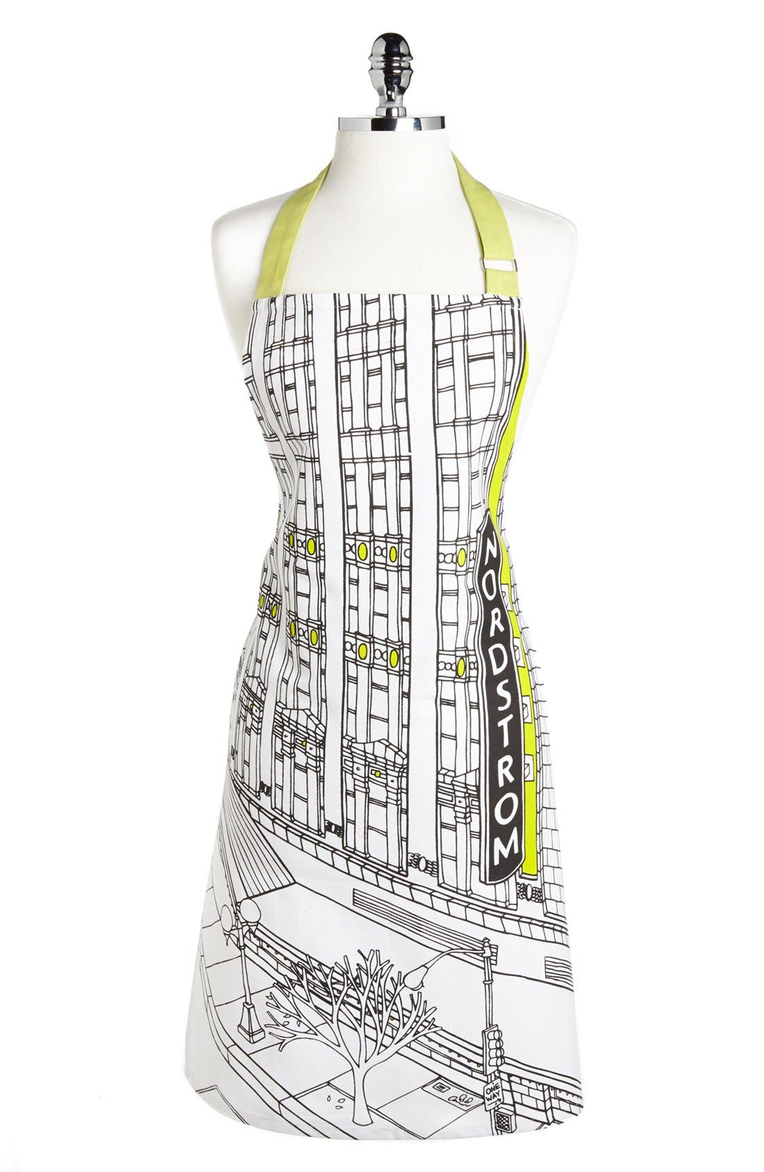 Alternate Image 1 Selected - Nordstrom Heritage Collection 'Seattle Flagship Storefront' Print Apron