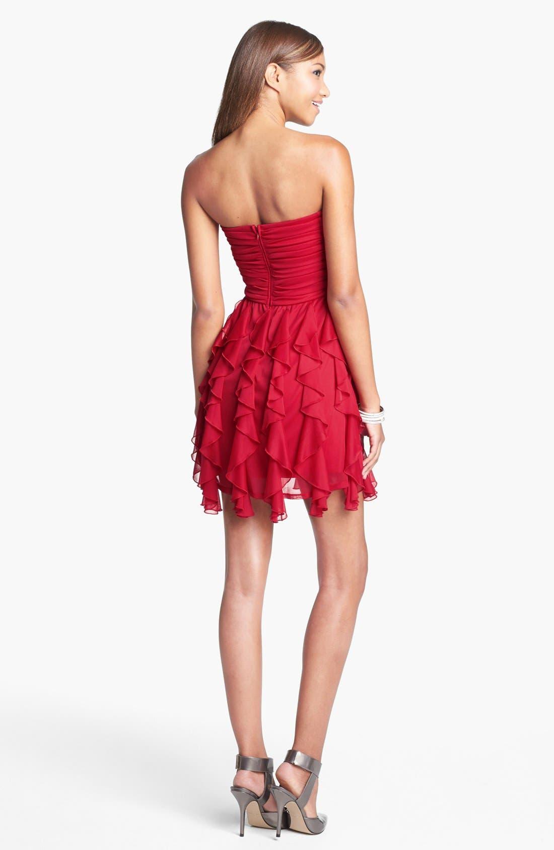 Alternate Image 2  - As U Wish Embellished Ruffle Tube Dress (Juniors)