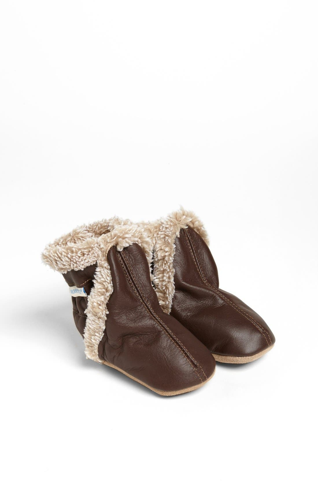Alternate Image 1 Selected - Robeez® 'Classic' Bootie (Baby & Walker)