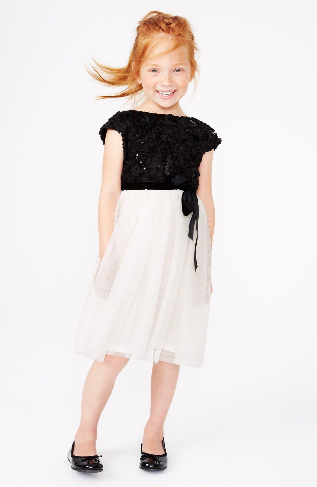 Alternate Image 2  - Zunie Tulle Dress (Little Girls & Big Girls)