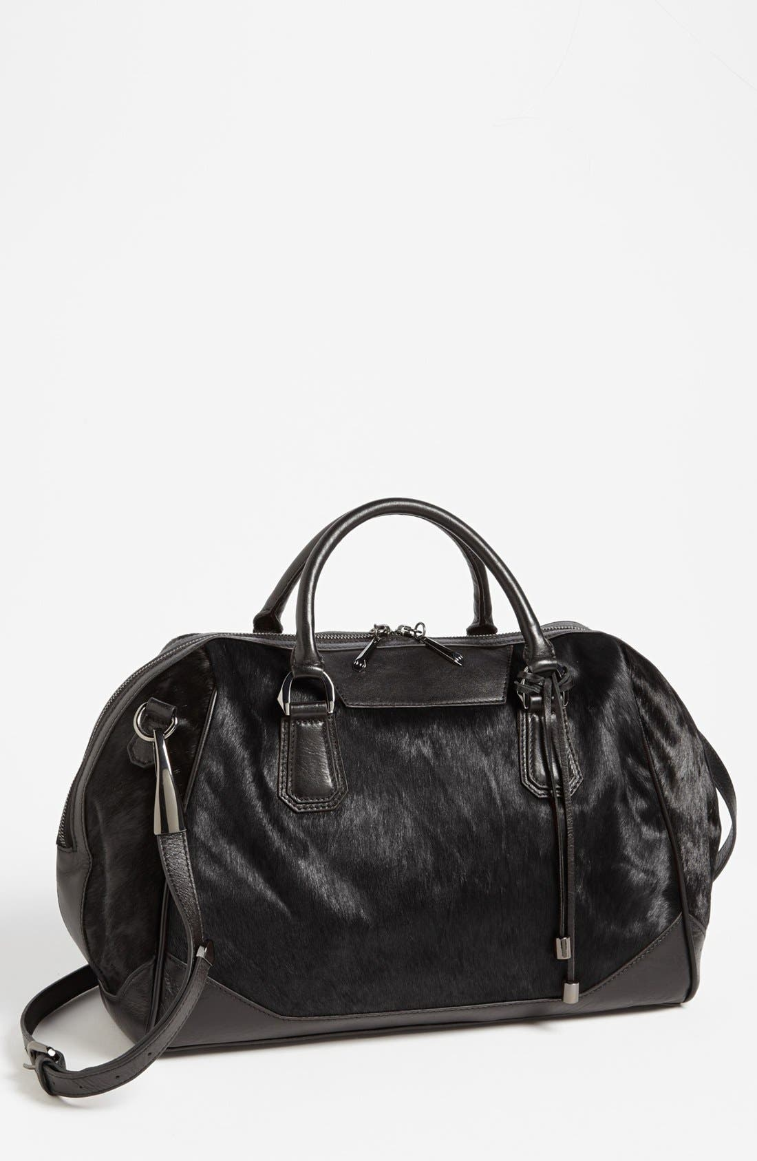 Alternate Image 1 Selected - POVERTY FLATS by rian 'Large' Faux Calf Hair Satchel