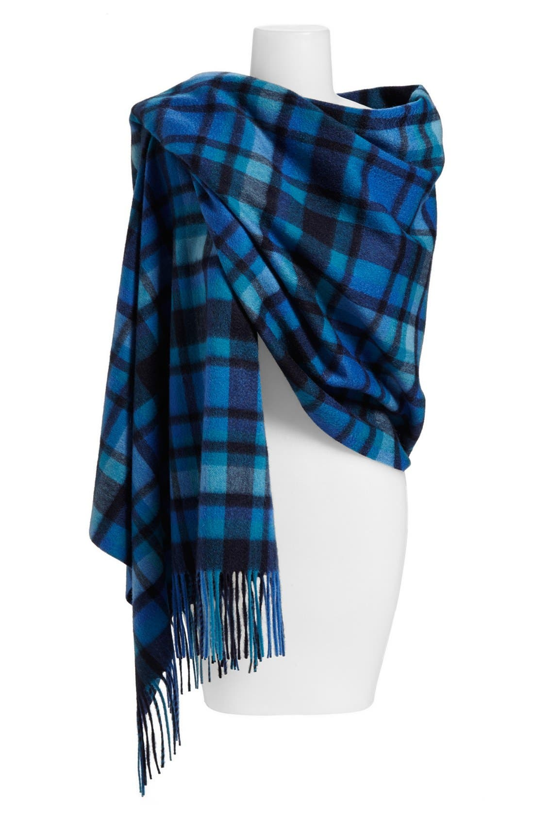 Alternate Image 1 Selected - Nordstrom Plaid Woven Cashmere Wrap
