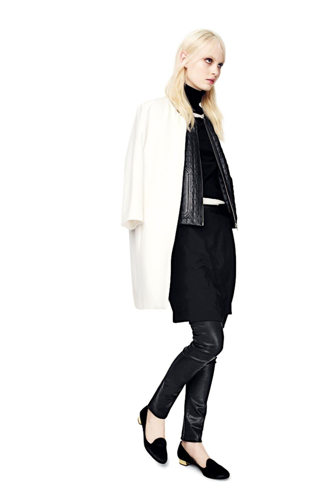 Alternate Image 9  - Trouvé Faux Leather Front Leggings