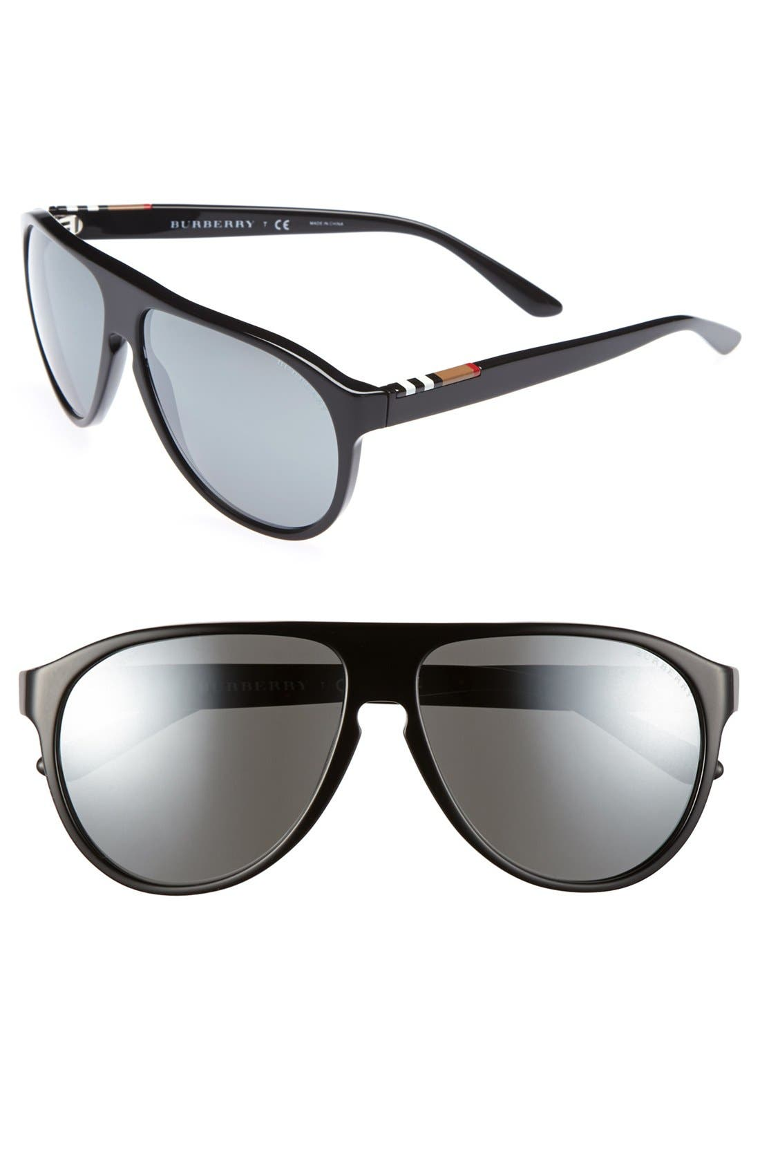 Alternate Image 1 Selected - Burberry 59mm Keyhole Sunglasses