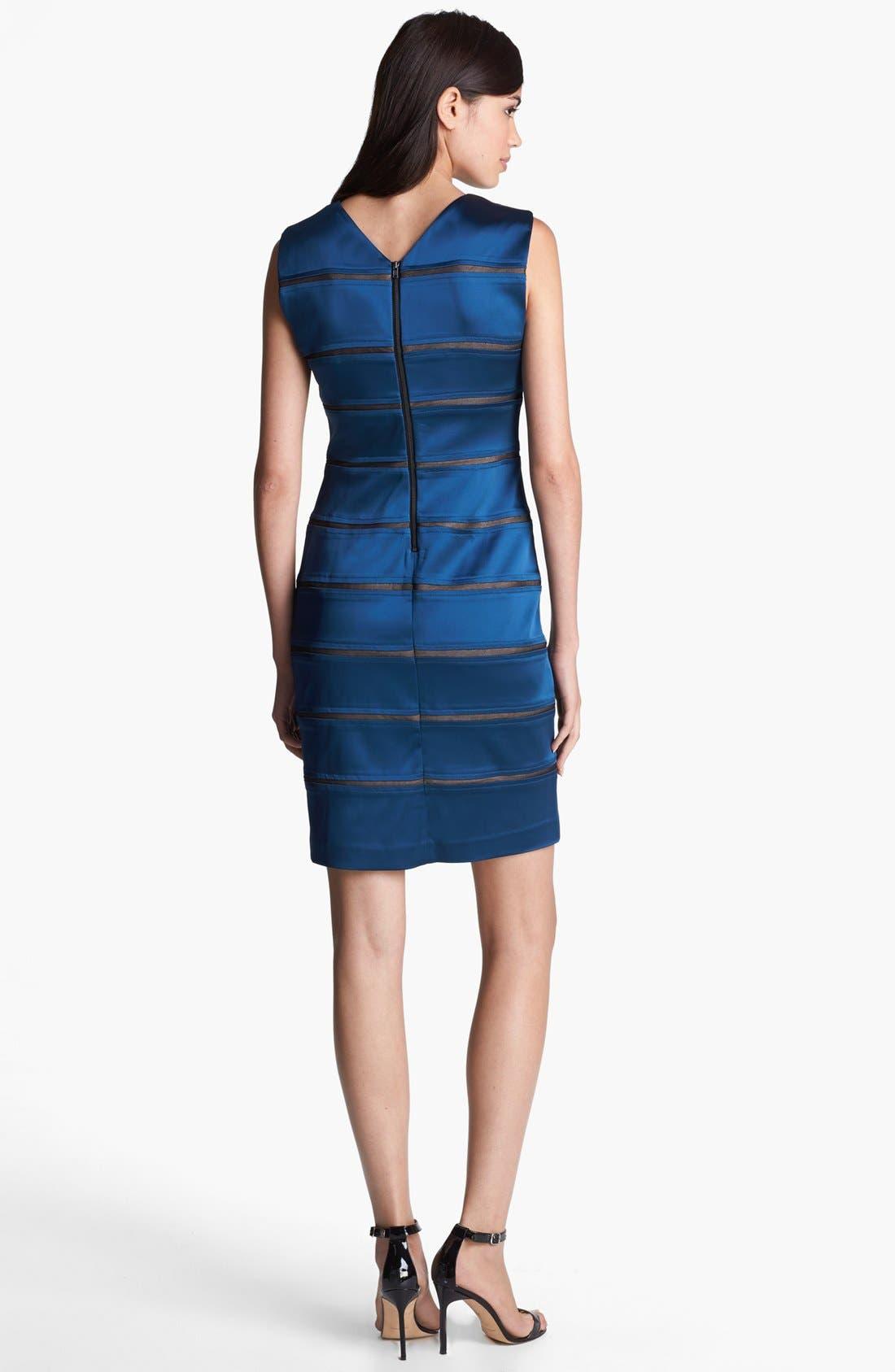 Alternate Image 2  - Ivy & Blu Banded Satin Sheath Dress