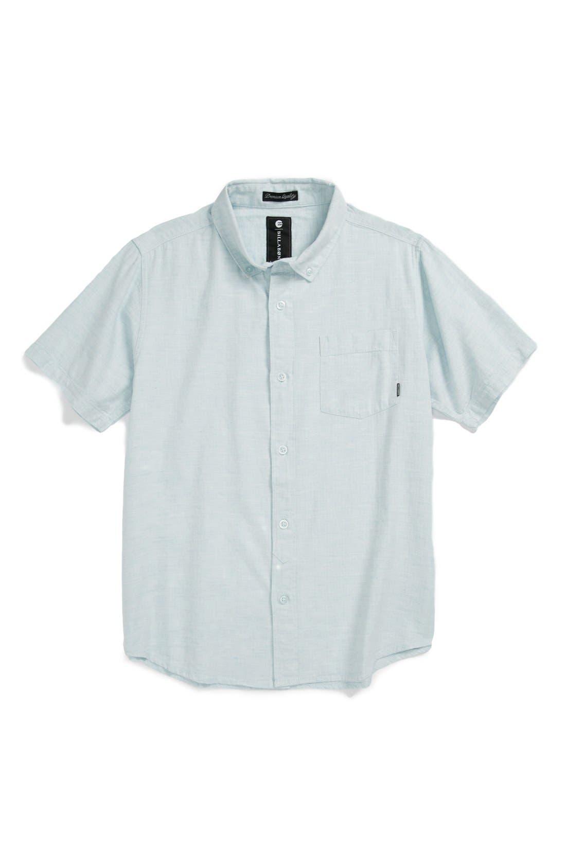 Alternate Image 1 Selected - Billabong 'All Day' Chambray Shirt (Big Boys)