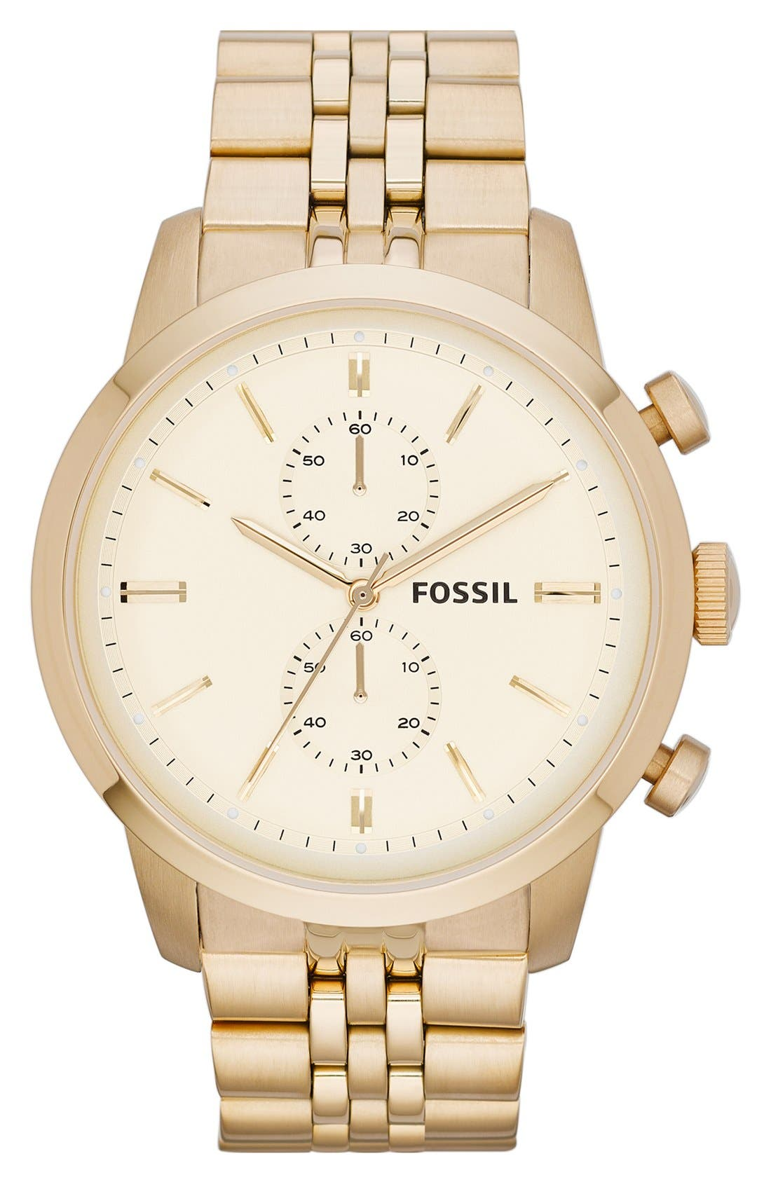 Alternate Image 1 Selected - Fossil 'Townsman' Chronograph Bracelet Watch, 48mm