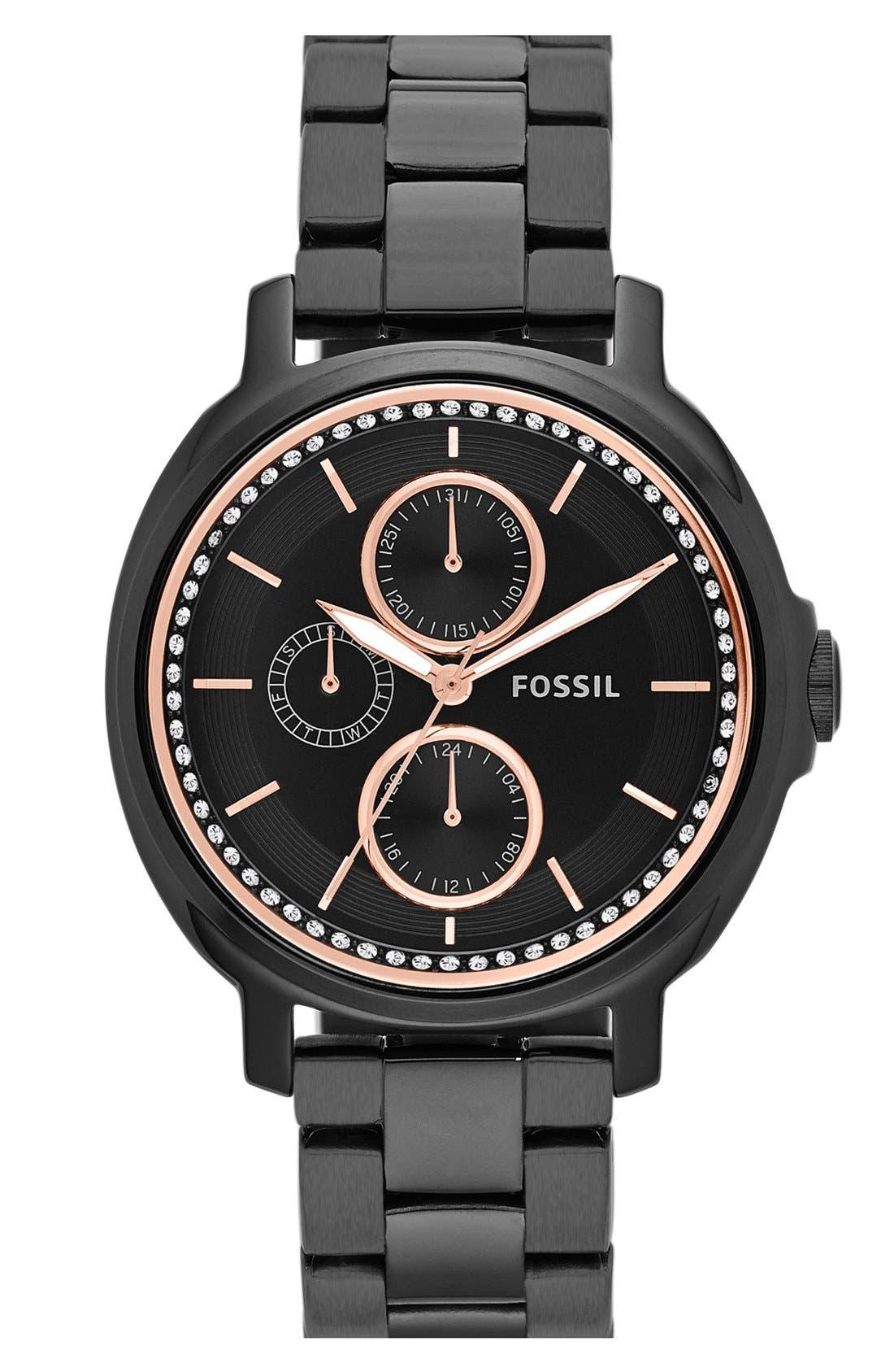 Main Image - Fossil 'Chelsey' Multifunction Bracelet Watch, 39mm