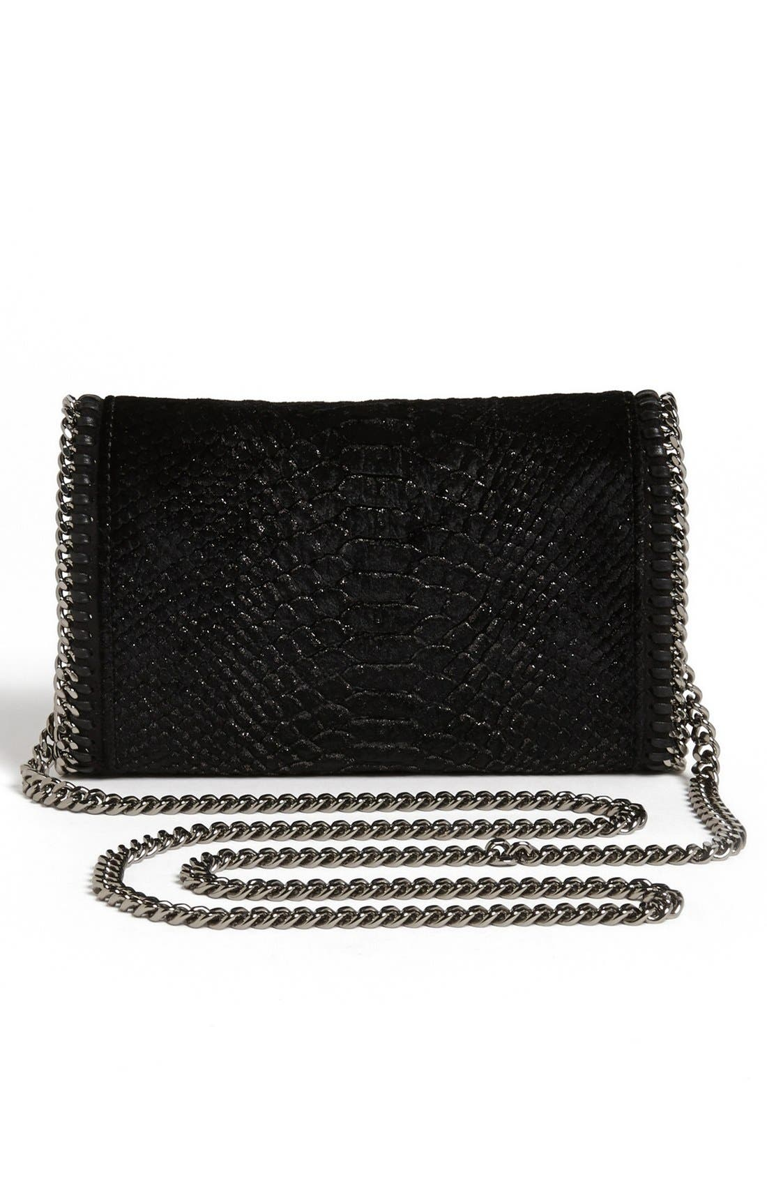 Alternate Image 4  - Stella McCartney 'Falabella' Velvet Crossbody Clutch