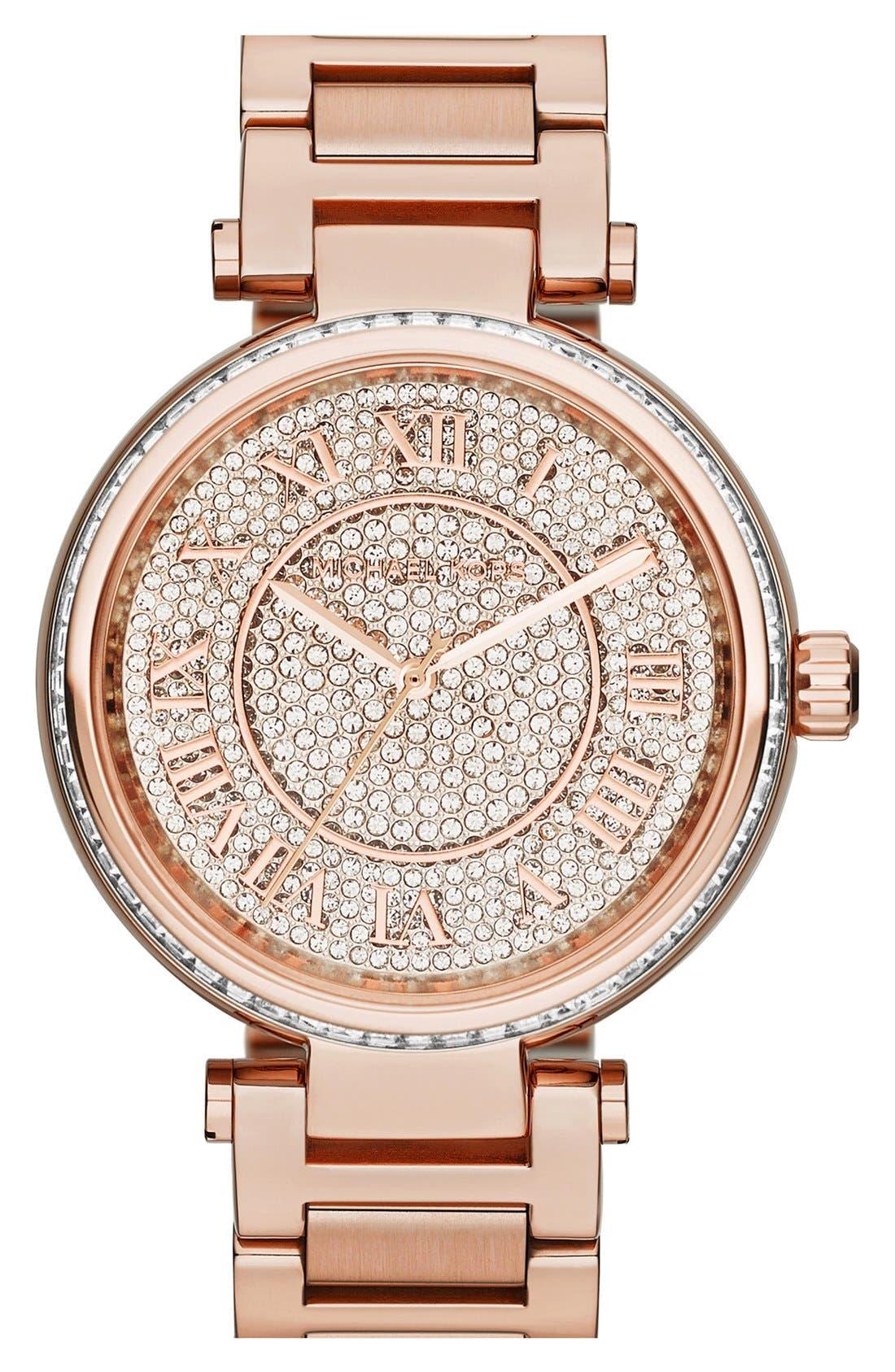 Alternate Image 1 Selected - Michael Kors 'Skylar' Pavé Dial Bracelet Watch, 42mm