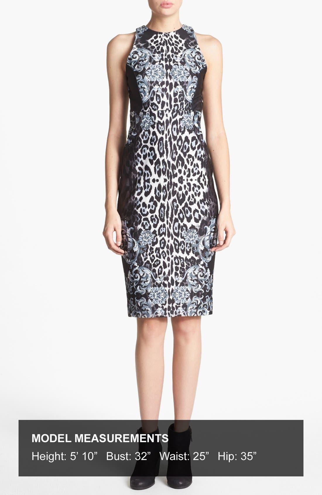 Alternate Image 4  - WAYF 'Baroque' Body-Con Midi Dress