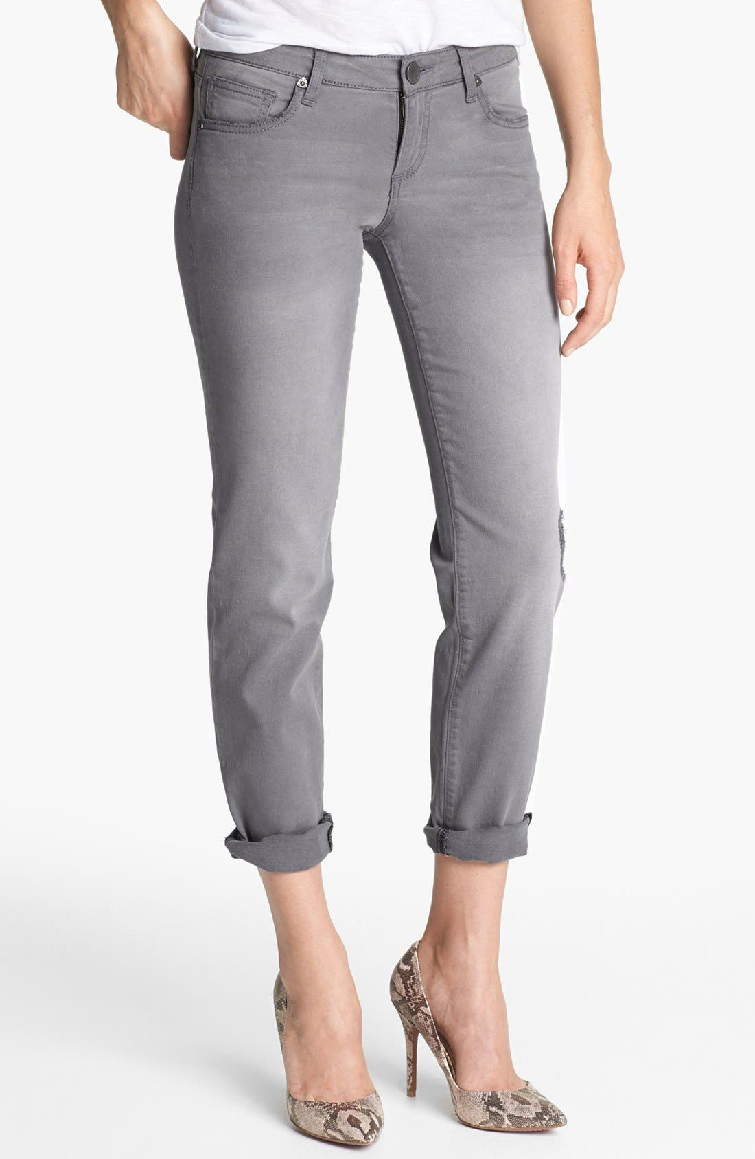 Alternate Image 1  - KUT from the Kloth Boyfriend Crop Jeans (Ensure)